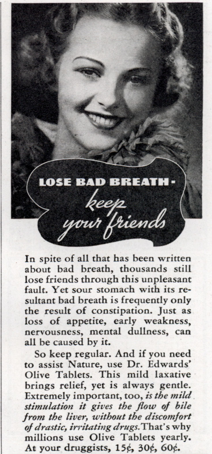LOSE BAD BREATH – Keep Your Friends (Dec, 1937)
