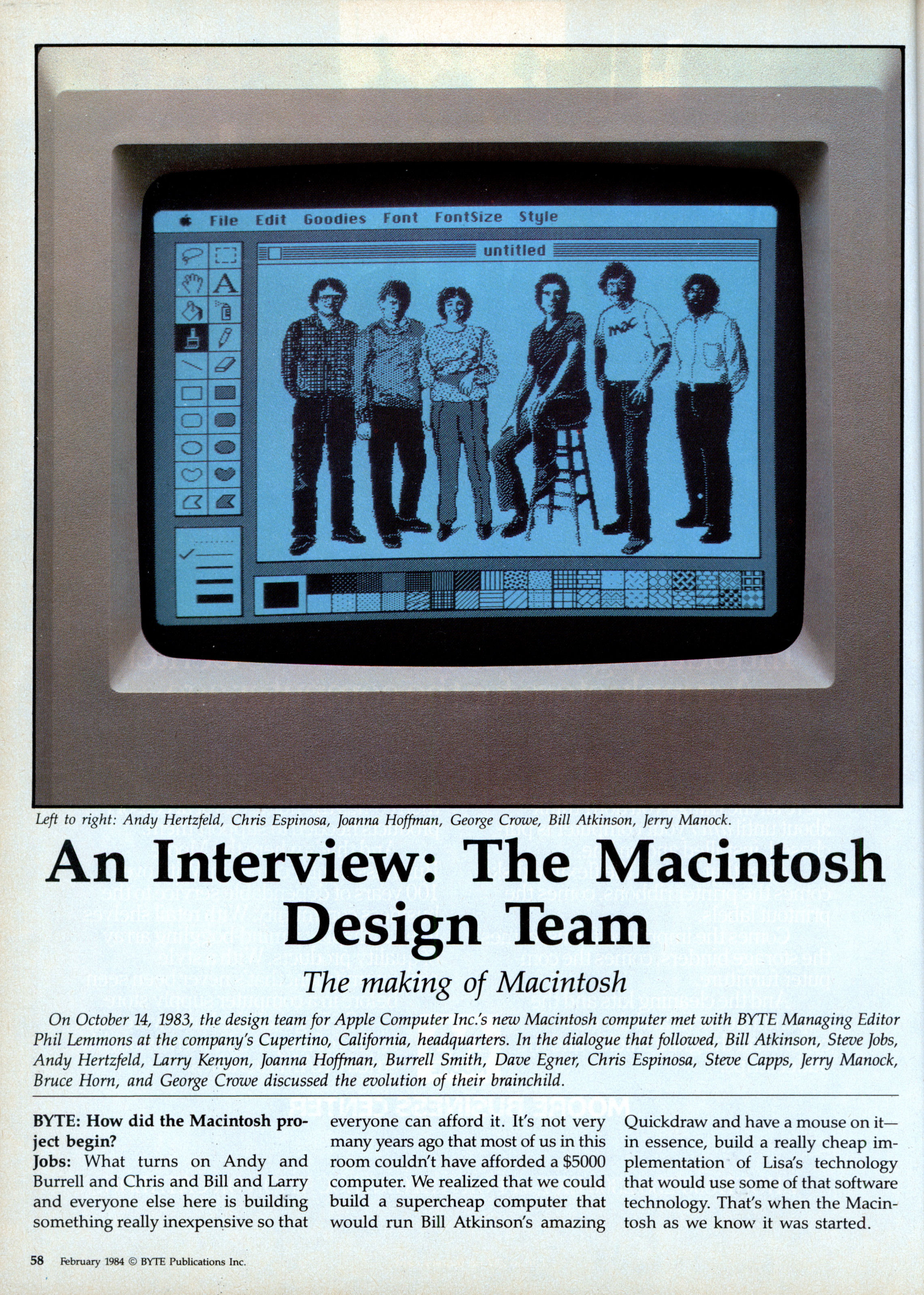 The Making Of Macintosh An Interview With Design Circuit Medic 2012100 Professional Repair Kit 120 Vac Team Feb 1984