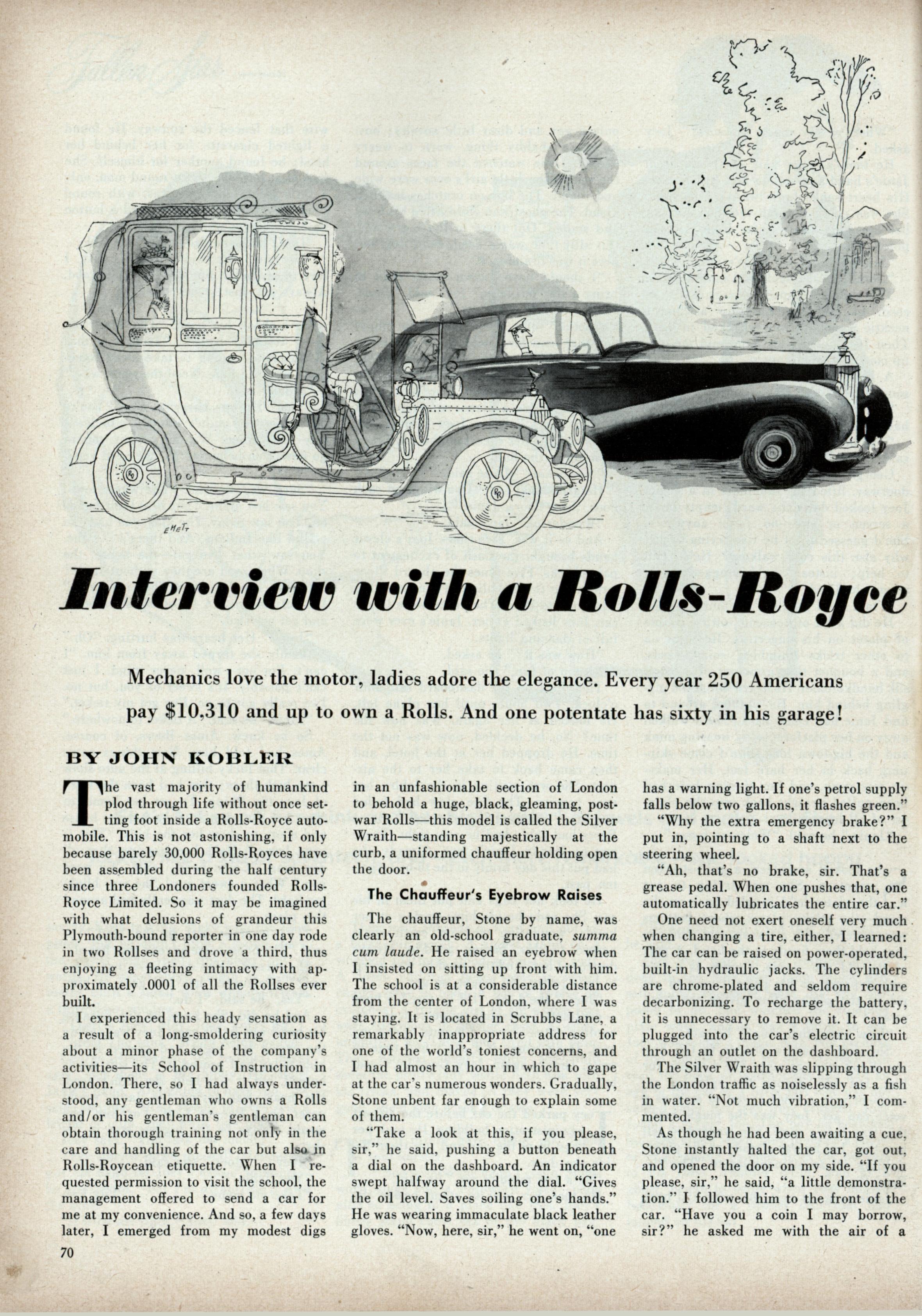 Interview with a Rolls-Royce | Modern Mechanix