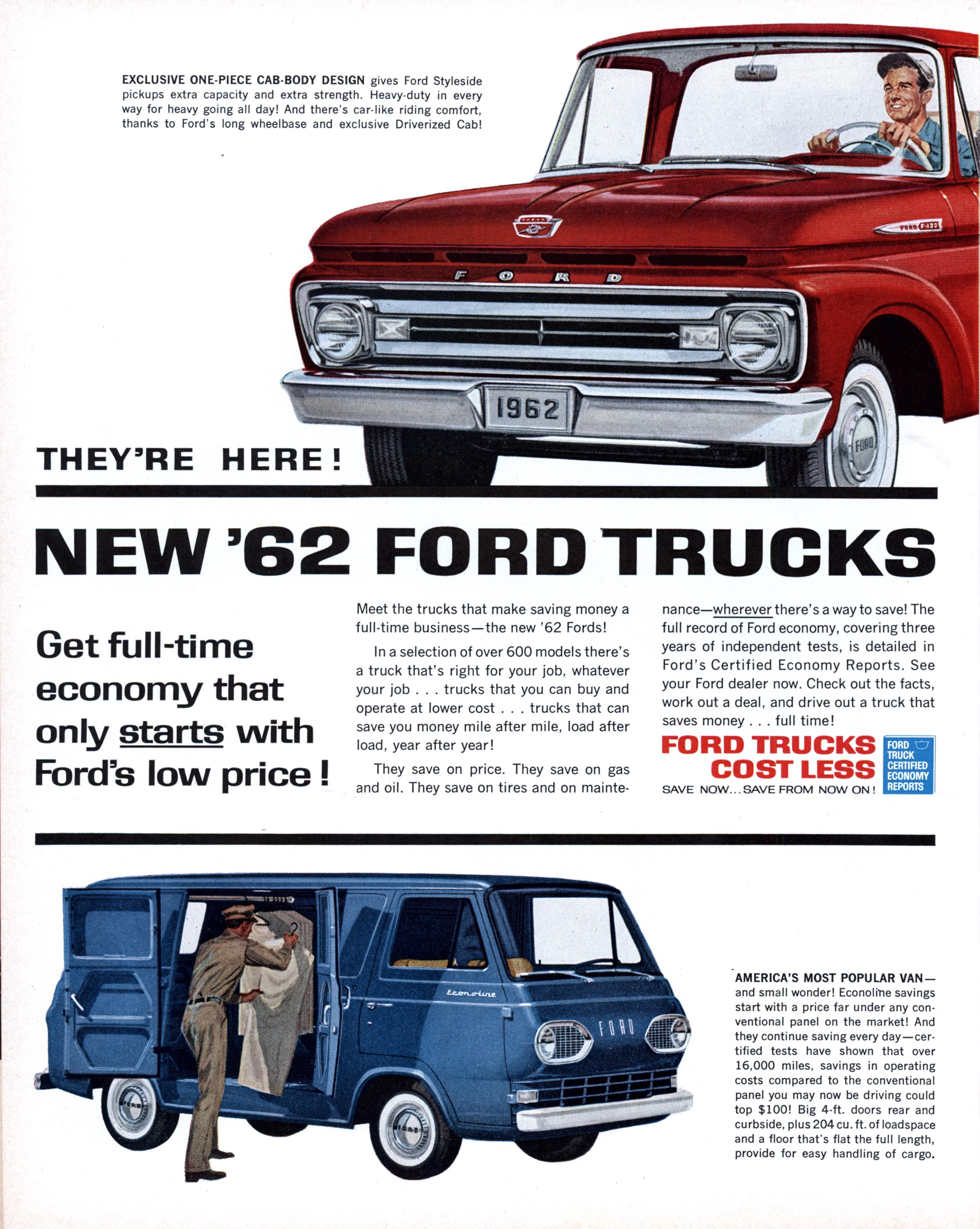 Truck Quotes They're Here New '62 Ford Trucks  Modern Mechanix
