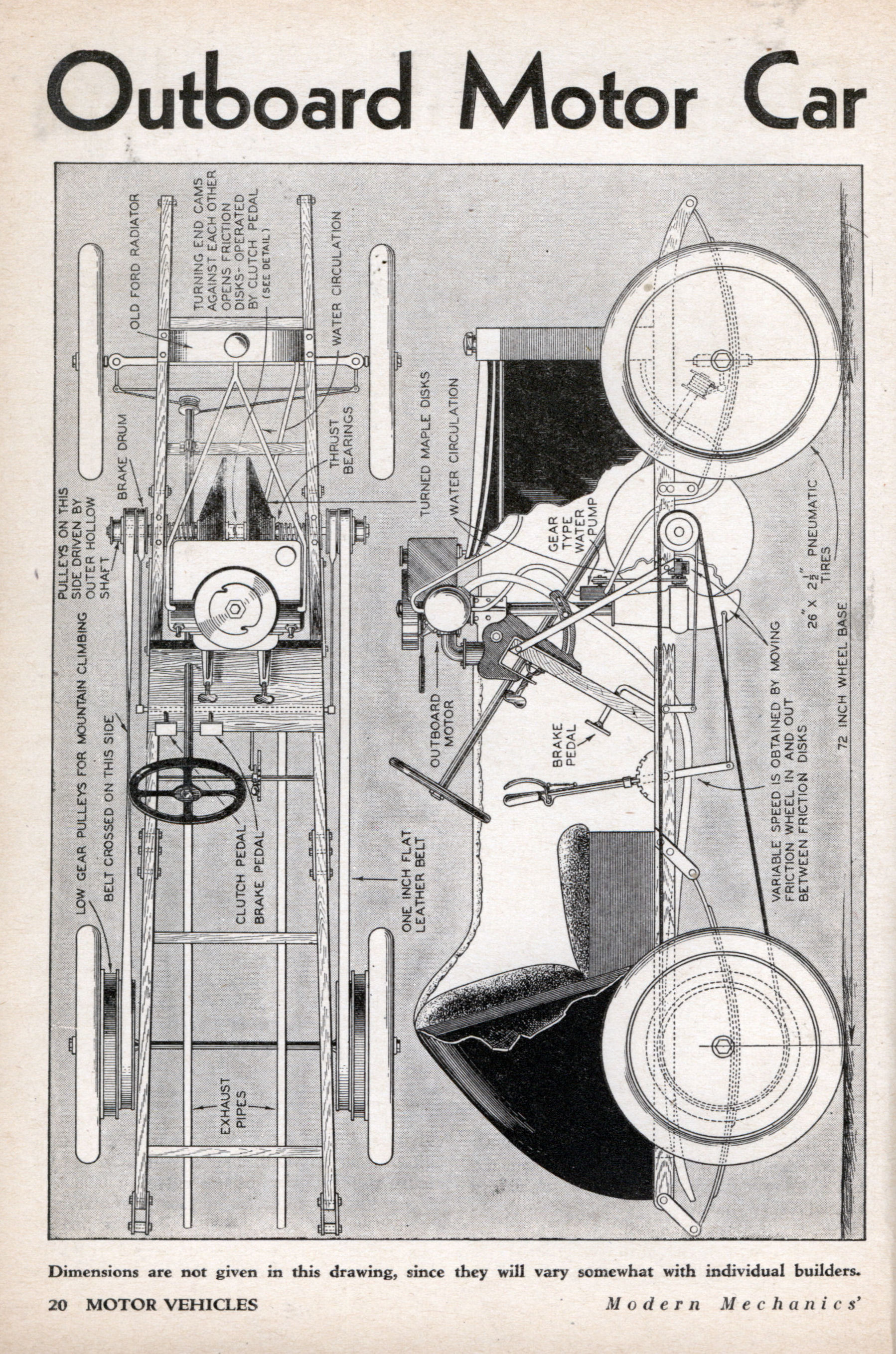 Outboard Motor Car Does 40 Miles An Hour Modern Mechanix Mercury Wiring Diagram 2006 Jan 1932