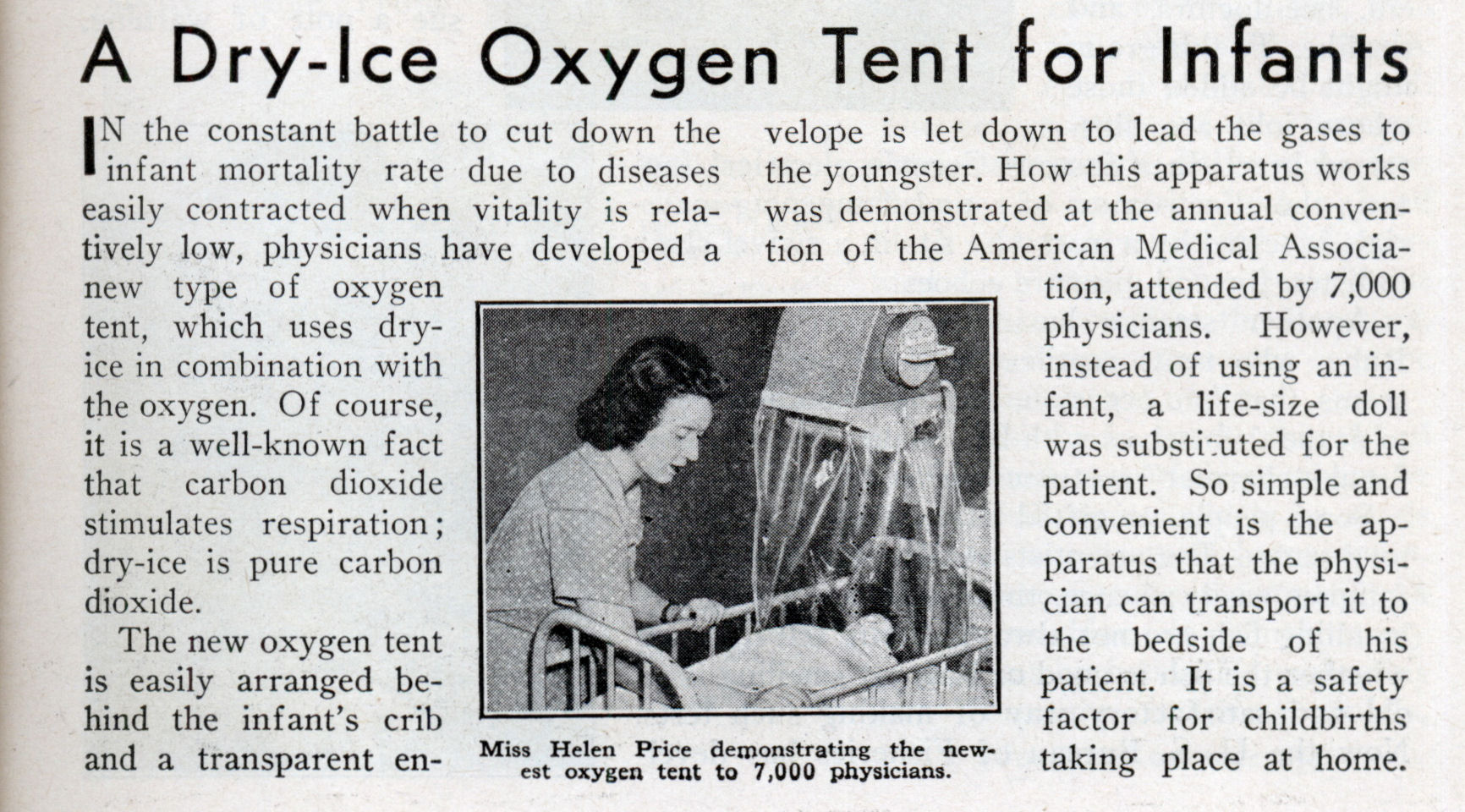 A Dry-Ice Oxygen Tent for Infants (Oct 1938)  sc 1 st  Modern Mechanix : oxygen tent - memphite.com