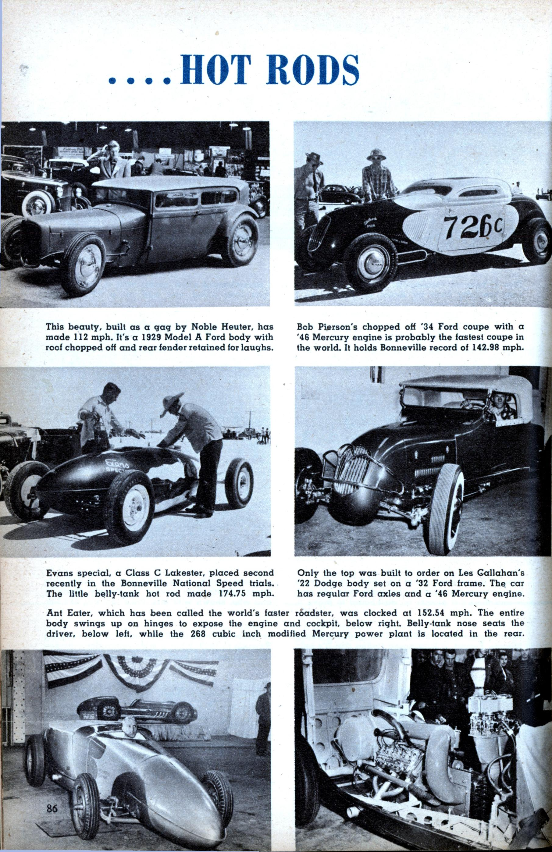 Custom Cars And Hot Rods Modern Mechanix Page 2 1951 Cadillac Rod Jan