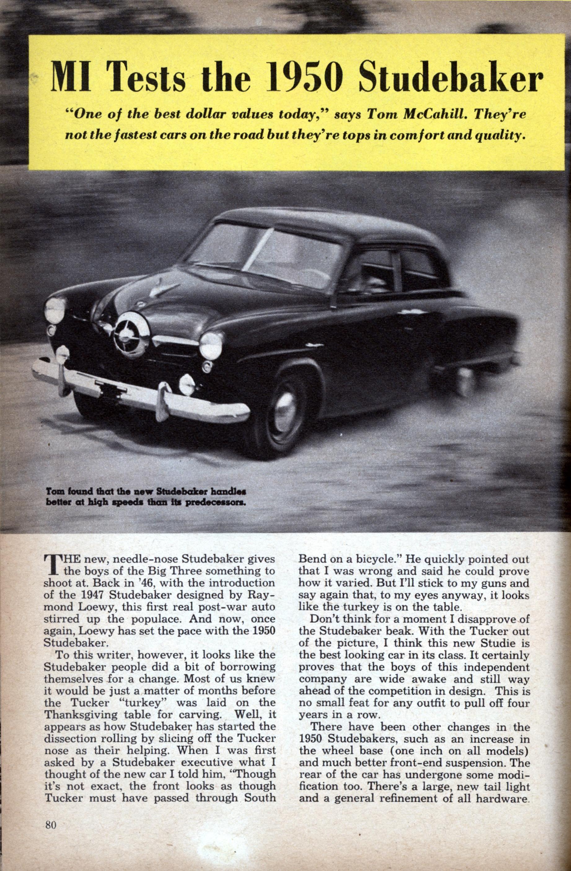 MI Tests the 1950 Studebaker