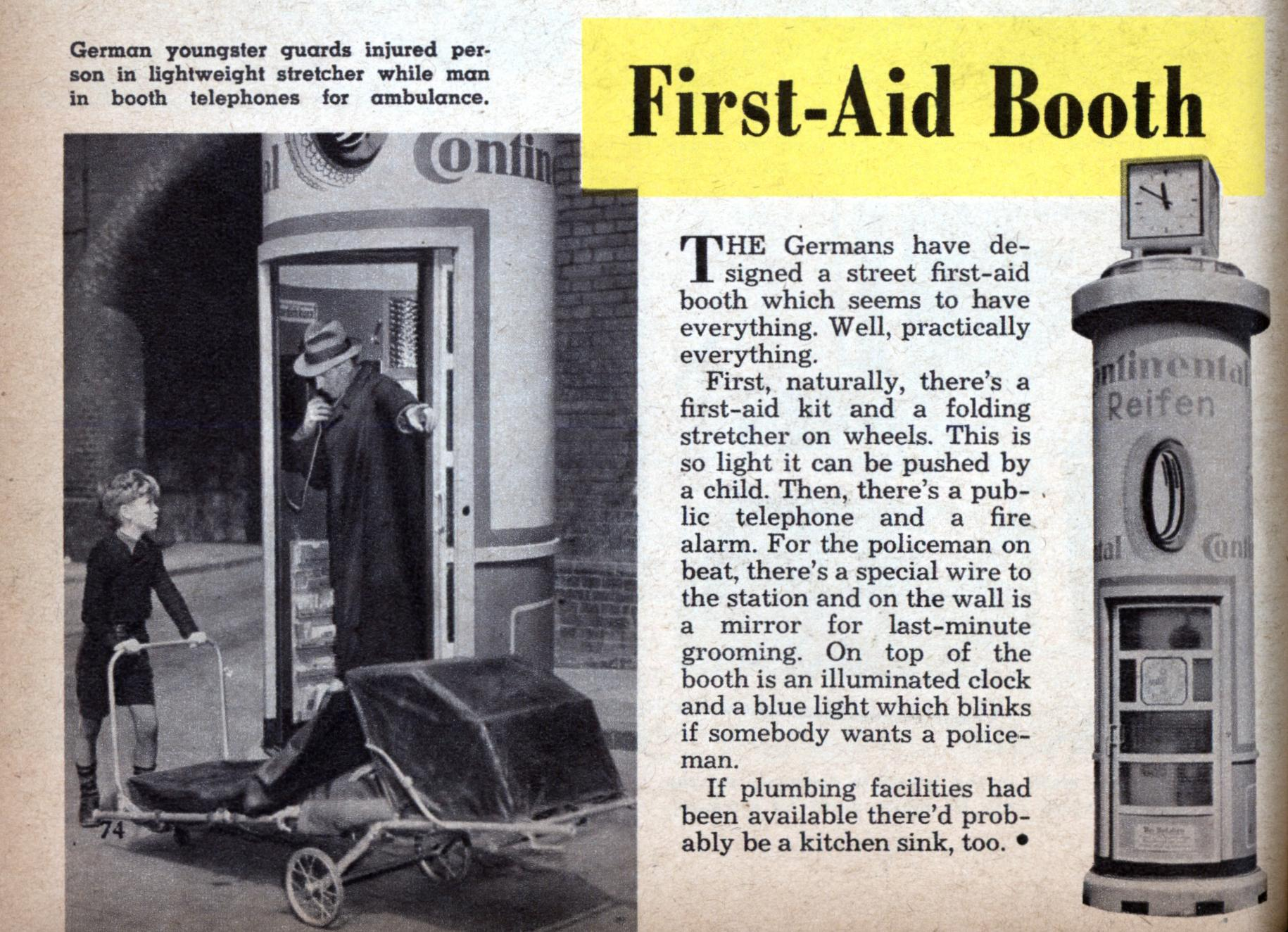 First Aid Booth Modern Mechanix