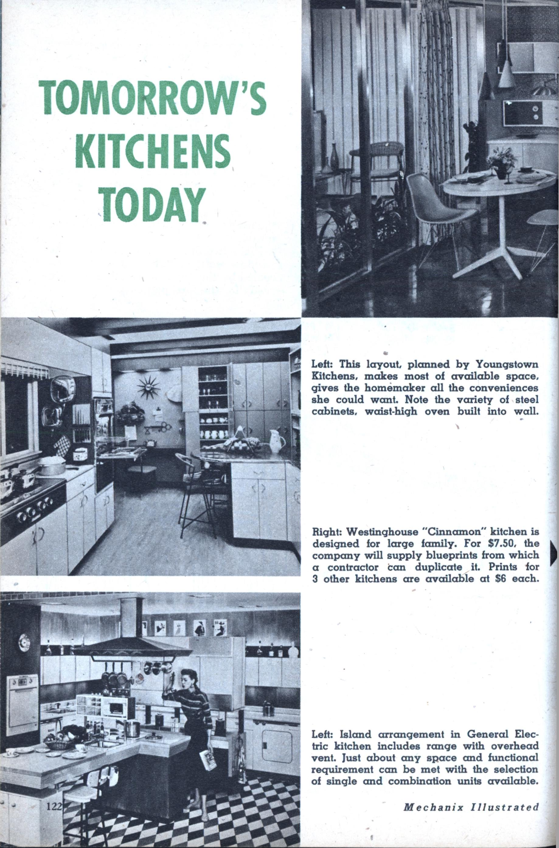 Tomorrows kitchens today modern mechanix malvernweather Image collections