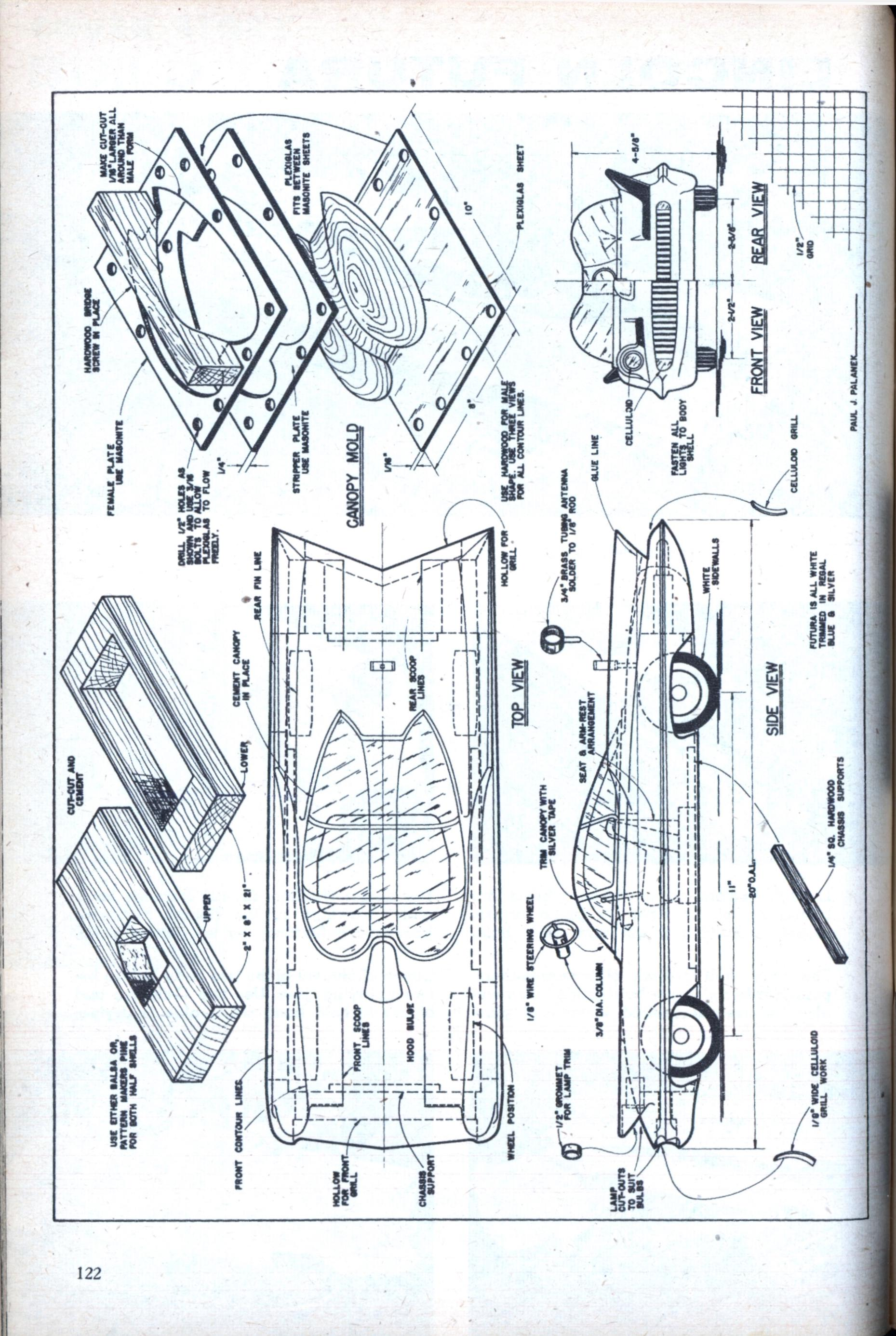 Build This Model Of The Lincoln Futura Modern Mechanix Page 2 Oven Wiring Diagram Dec 1955