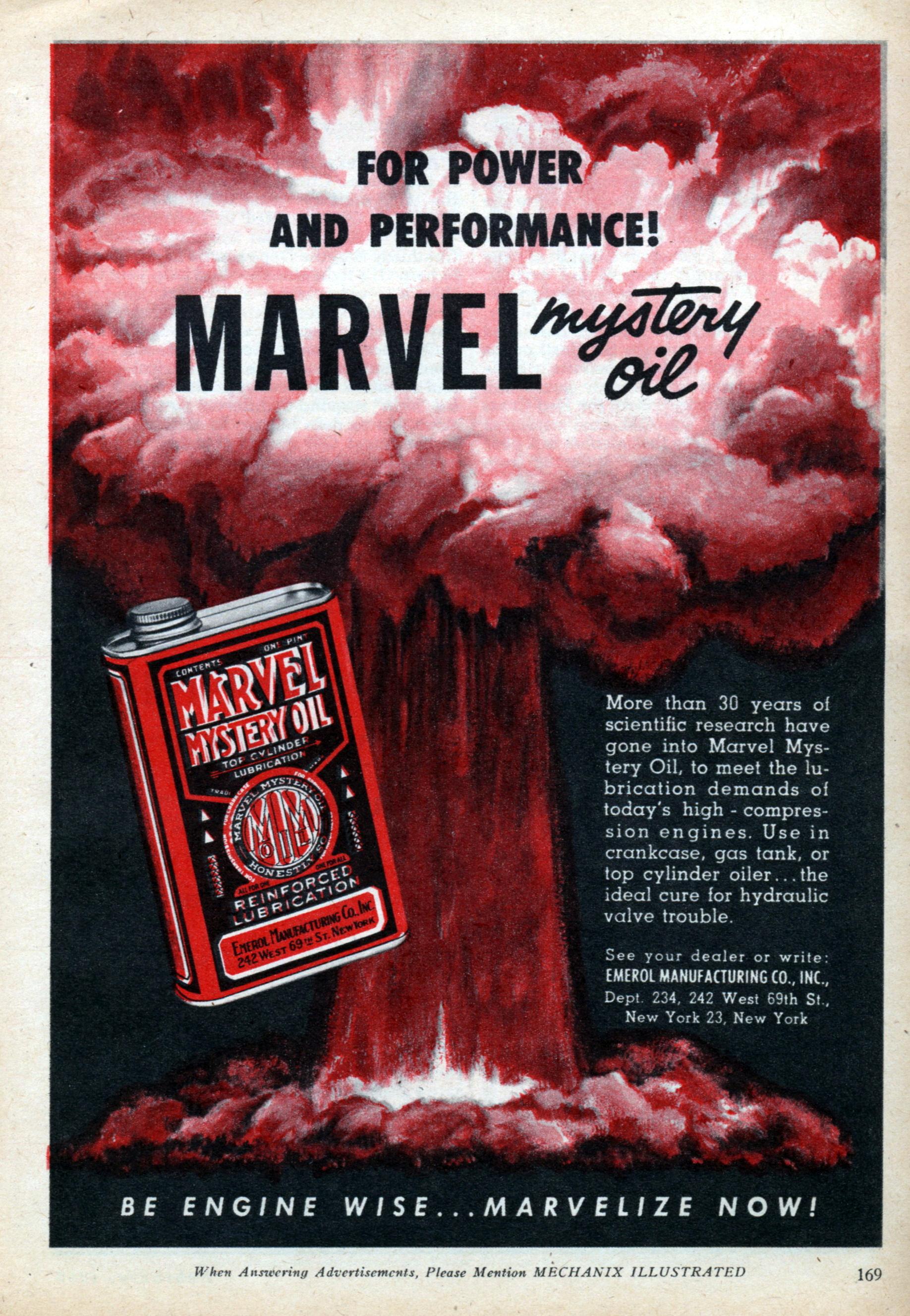 Marvel Mystery Oil Modern Mechanix