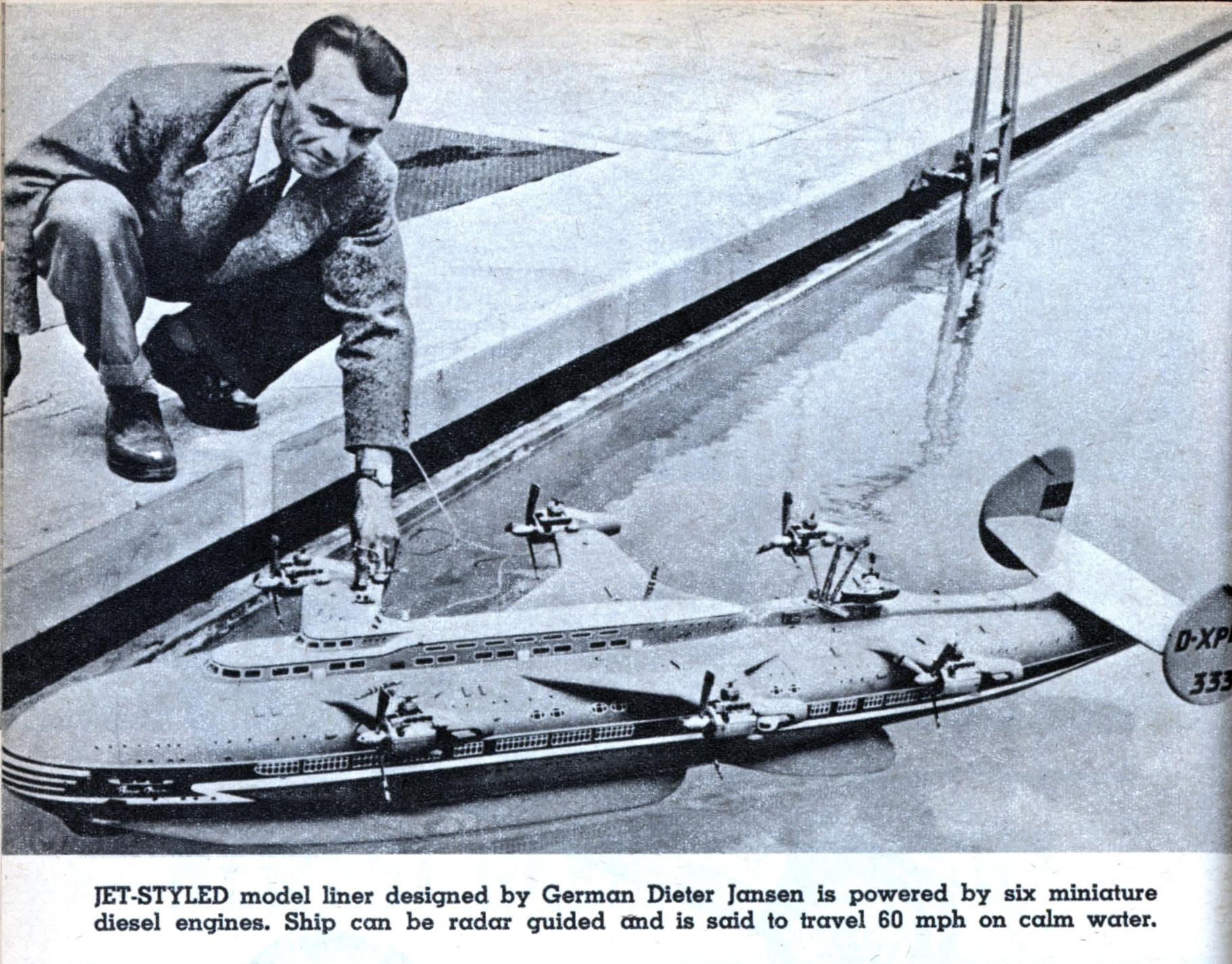 JET-STYLED model liner designed by German Dieter Jansen is powered by ...