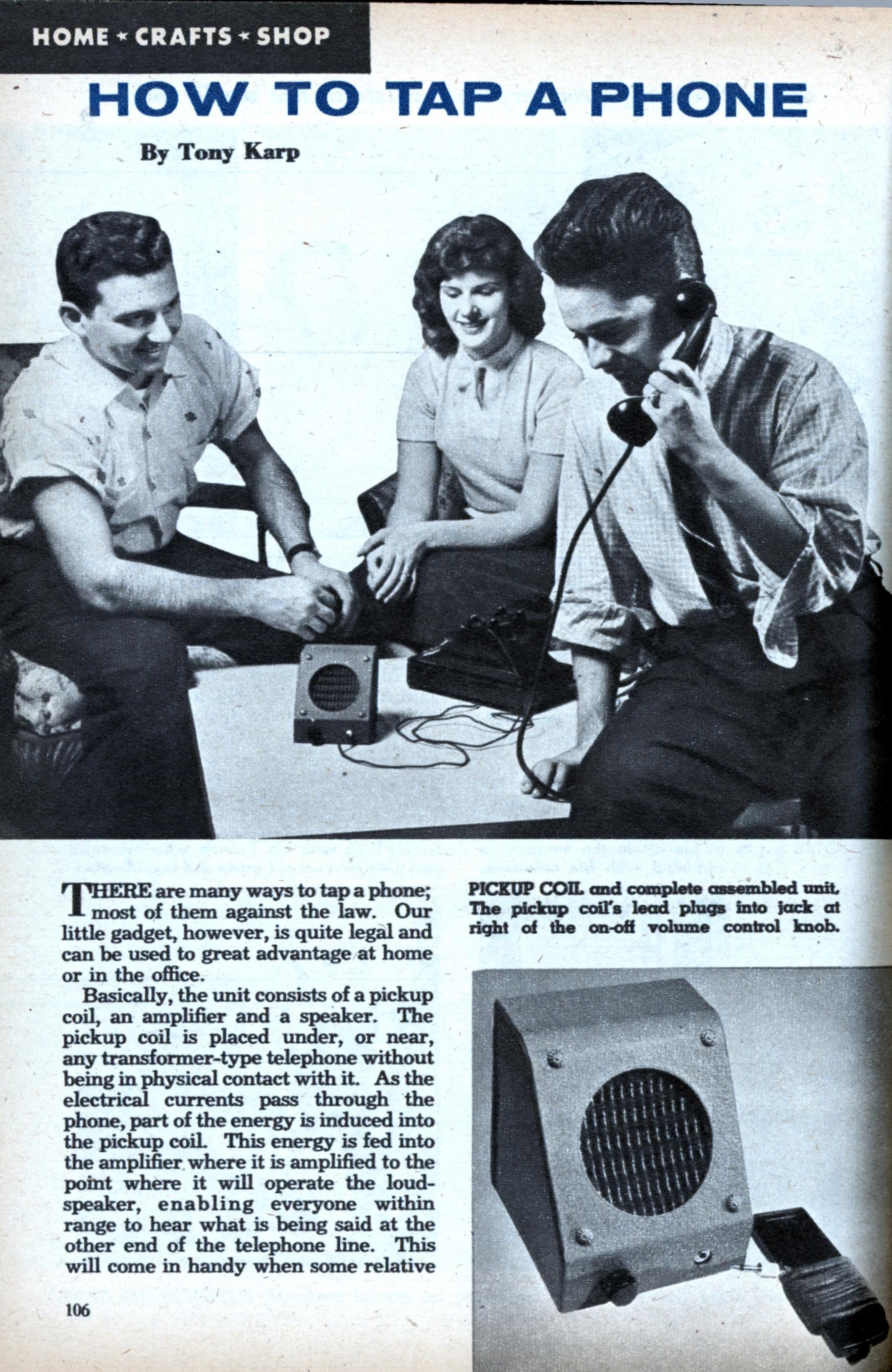 Phone Tap 1957