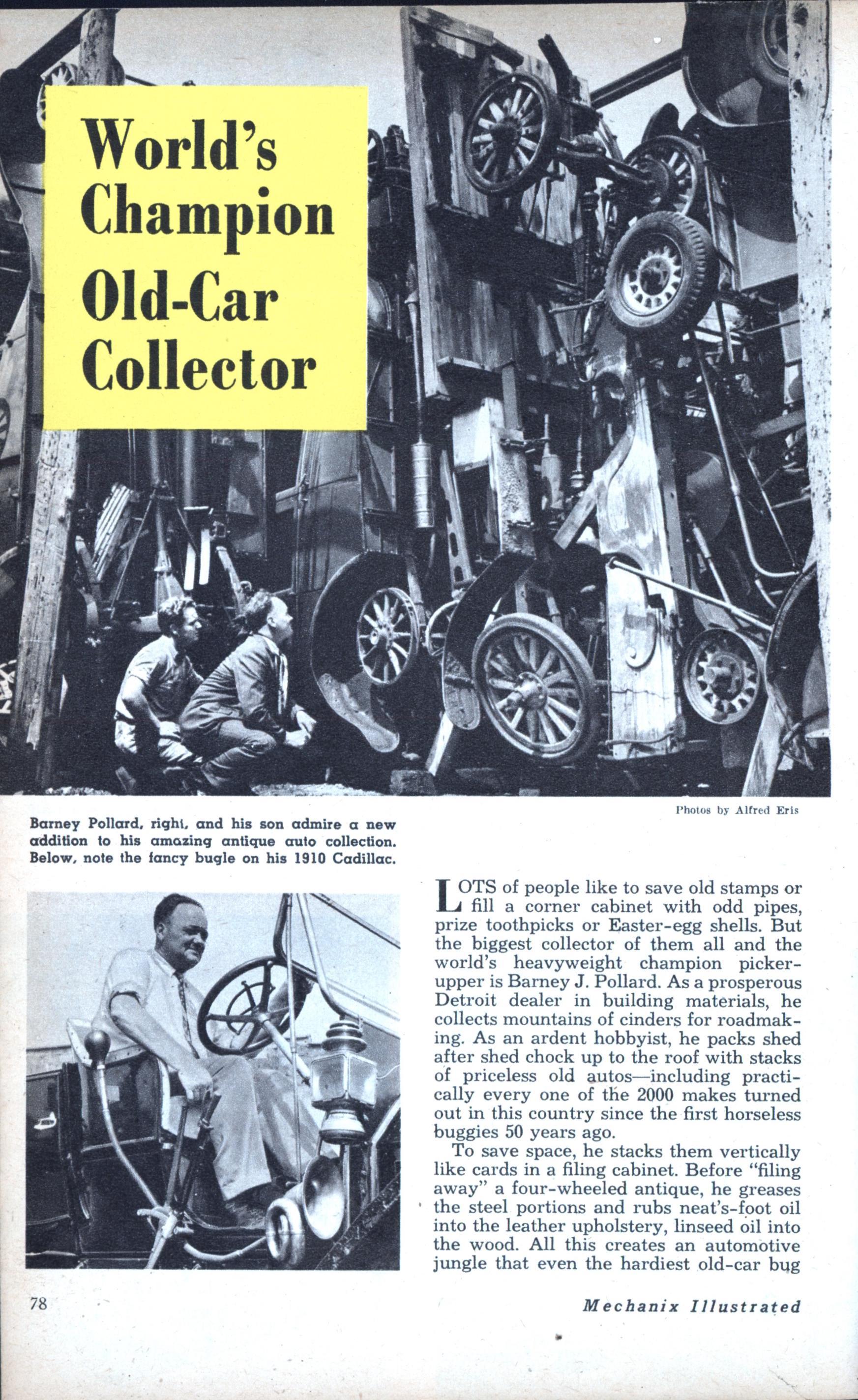 World\'s Champion Old-Car Collector | Modern Mechanix