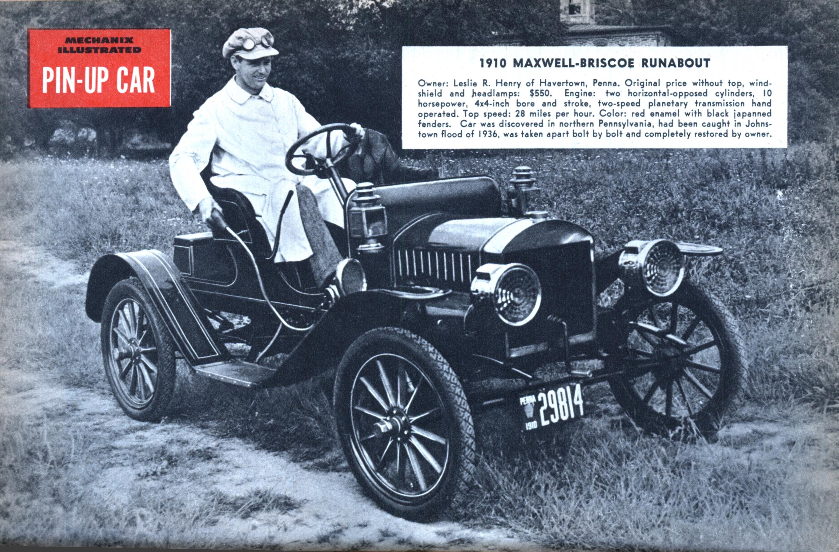 PIN-UP CAR: 1910 MAXWELL-BRISCOE RUNABOUT | Modern Mechanix