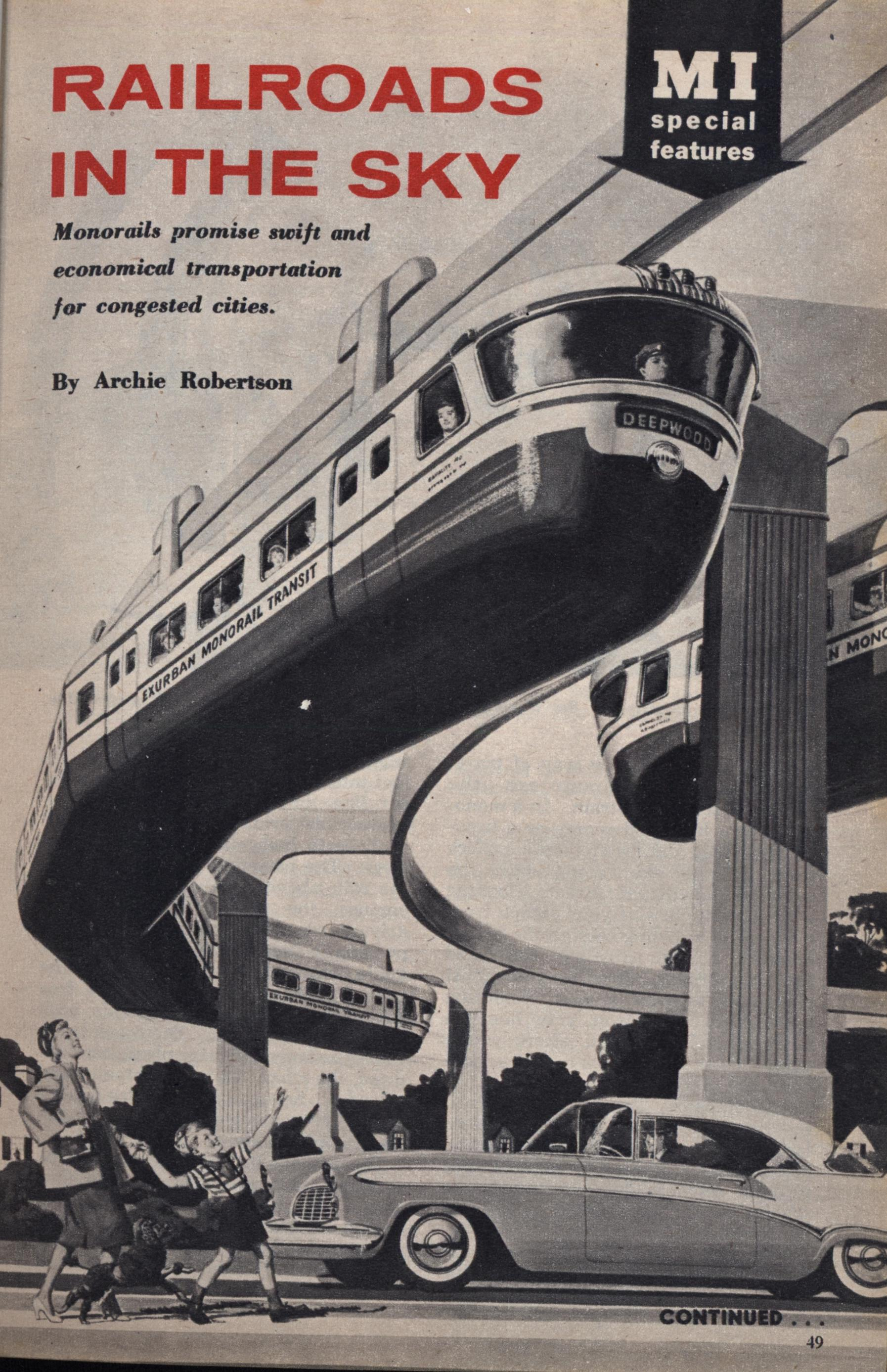 RAILROADS IN THE SKY | Modern Mechanix