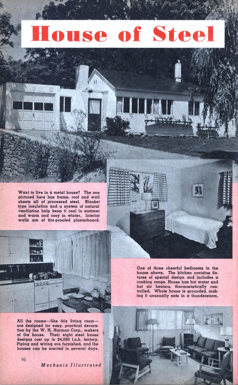 House Of Steel Modern Mechanix Wiring A Cost Sep 1947
