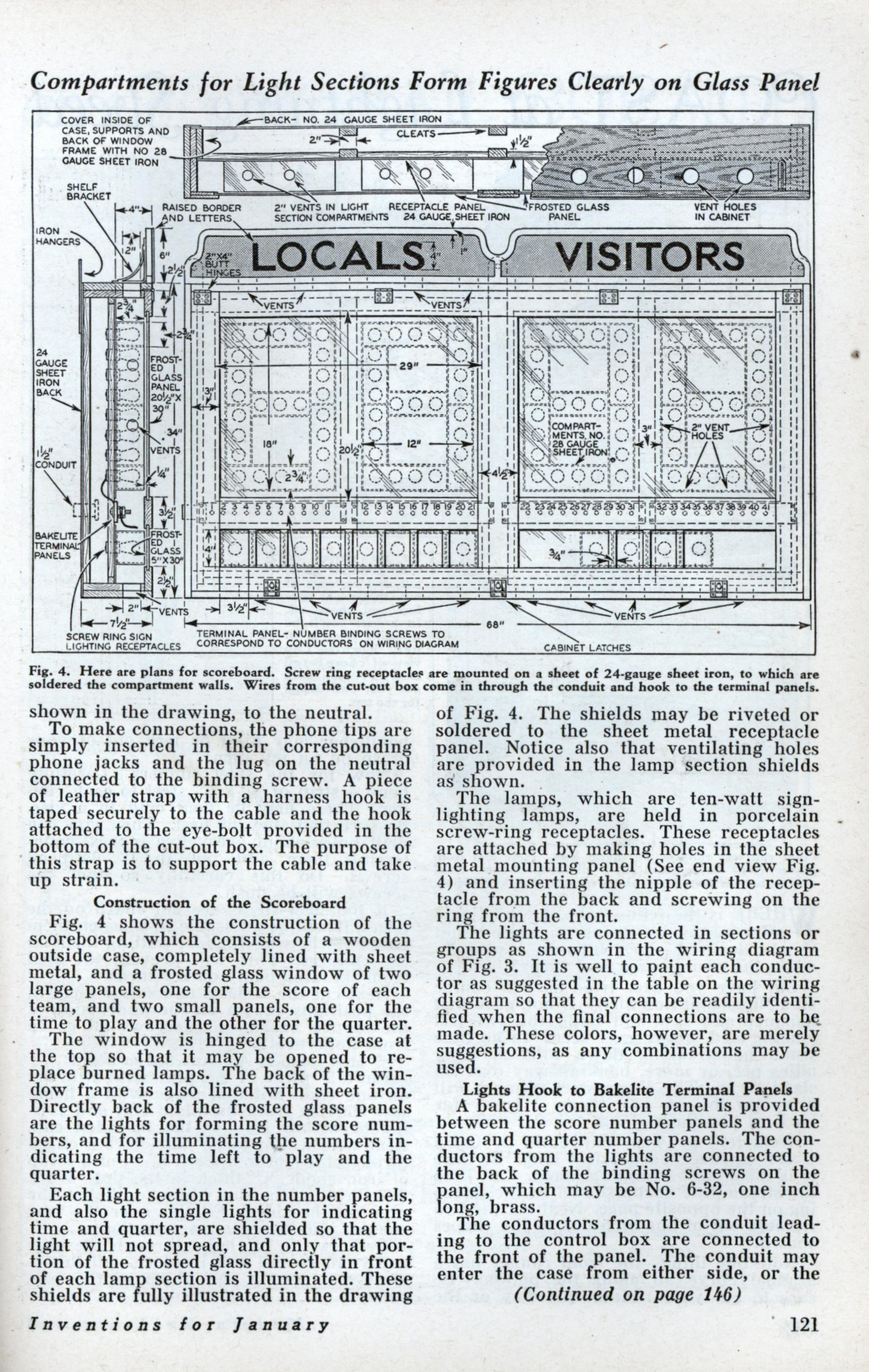Build This Basketball Scoreboard For Your Gym Modern Mechanix Page 3 Wiring Diagrams Jan 1933