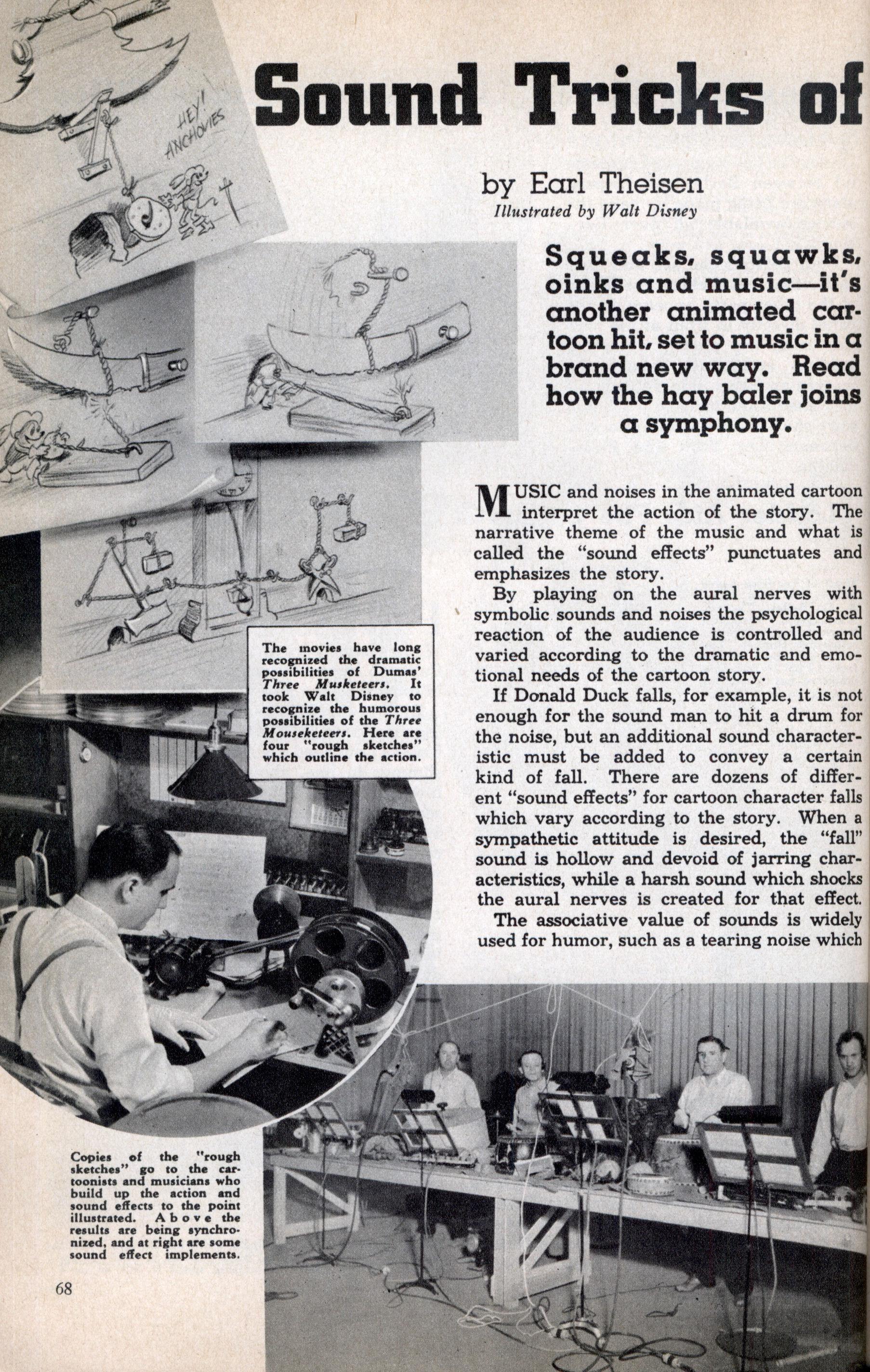 Sound Tricks of Mickey Mouse | Modern Mechanix