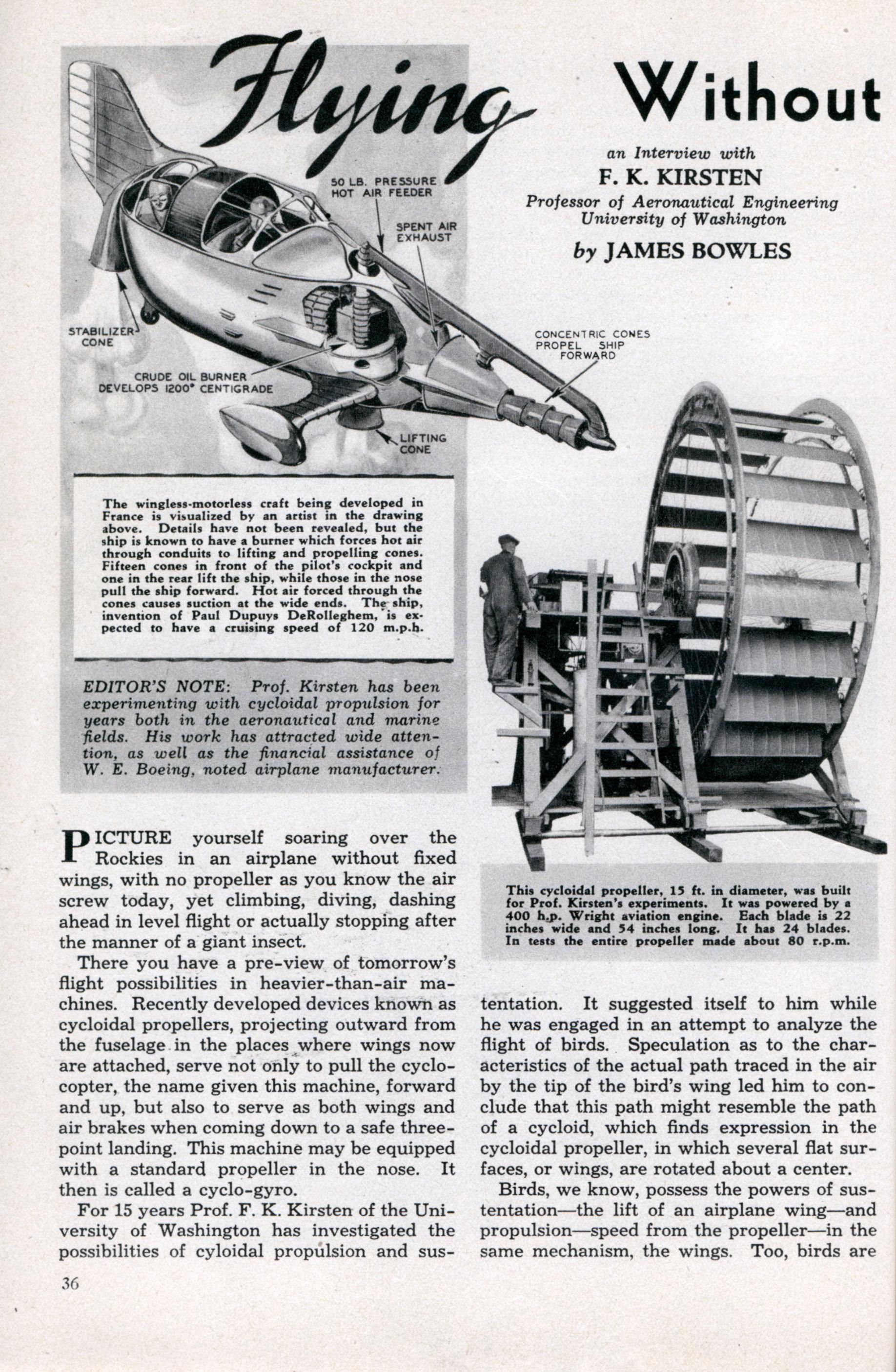 Flying Without Wings or Motors | Modern Mechanix