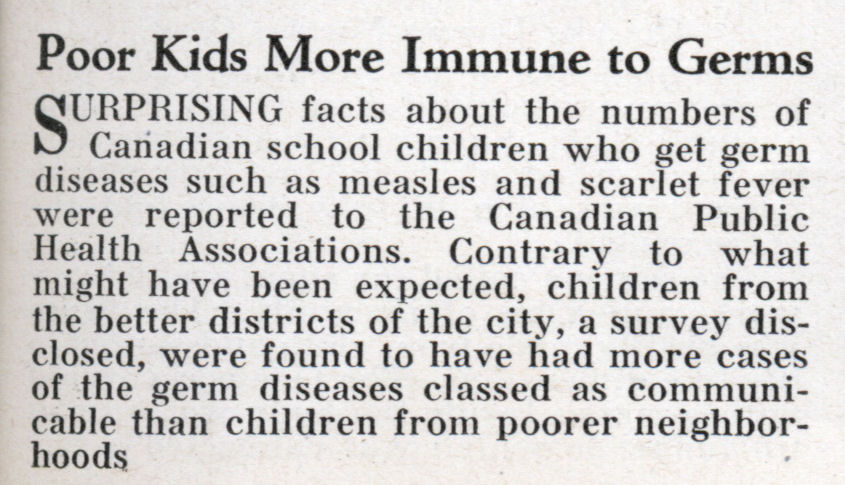 germs for kids. Poor Kids More Immune to Germs