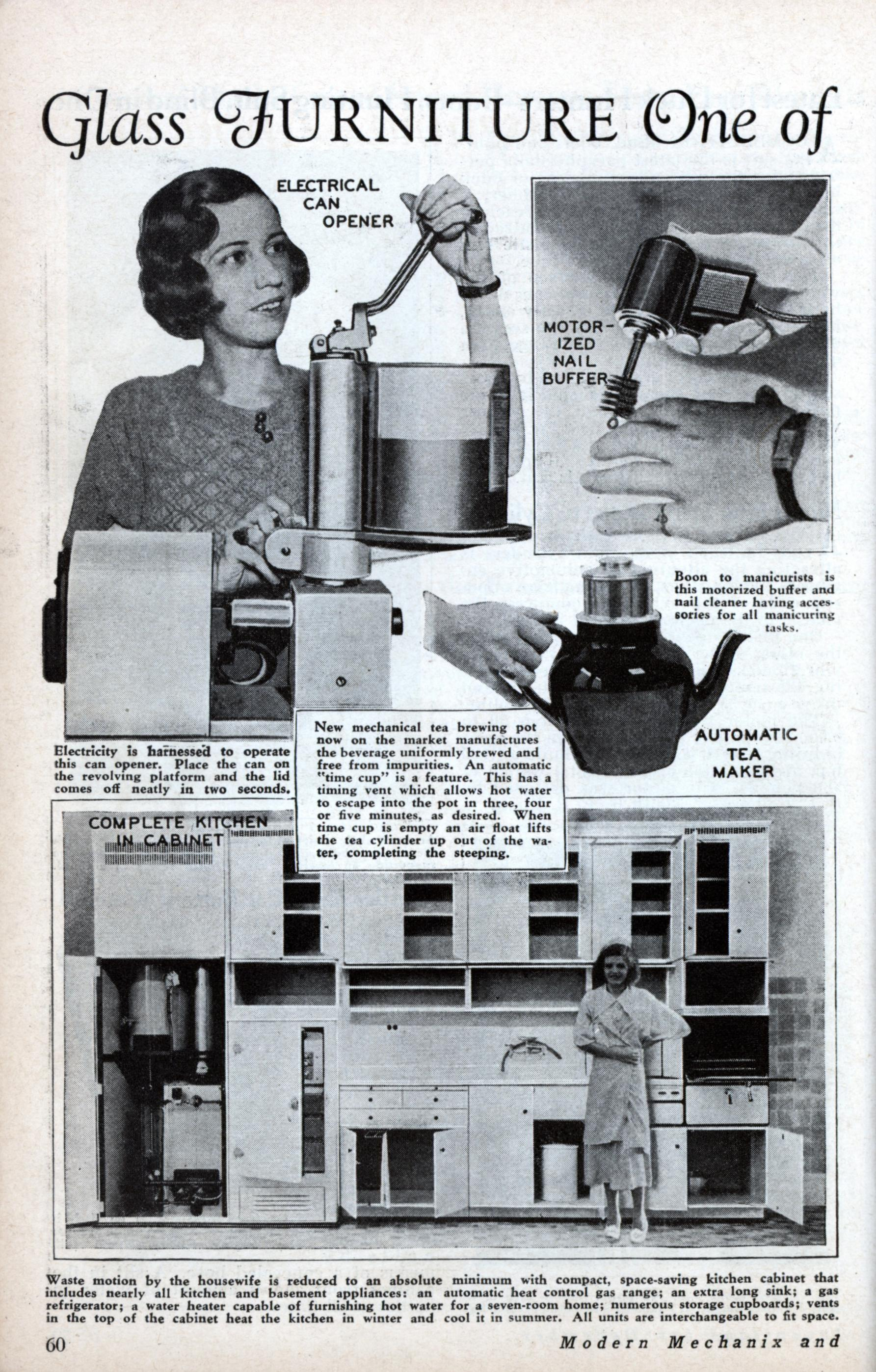 glass furniture one of new household appliances  dec 1933  glass furniture one of new household appliances   modern mechanix  rh   blog modernmechanix com