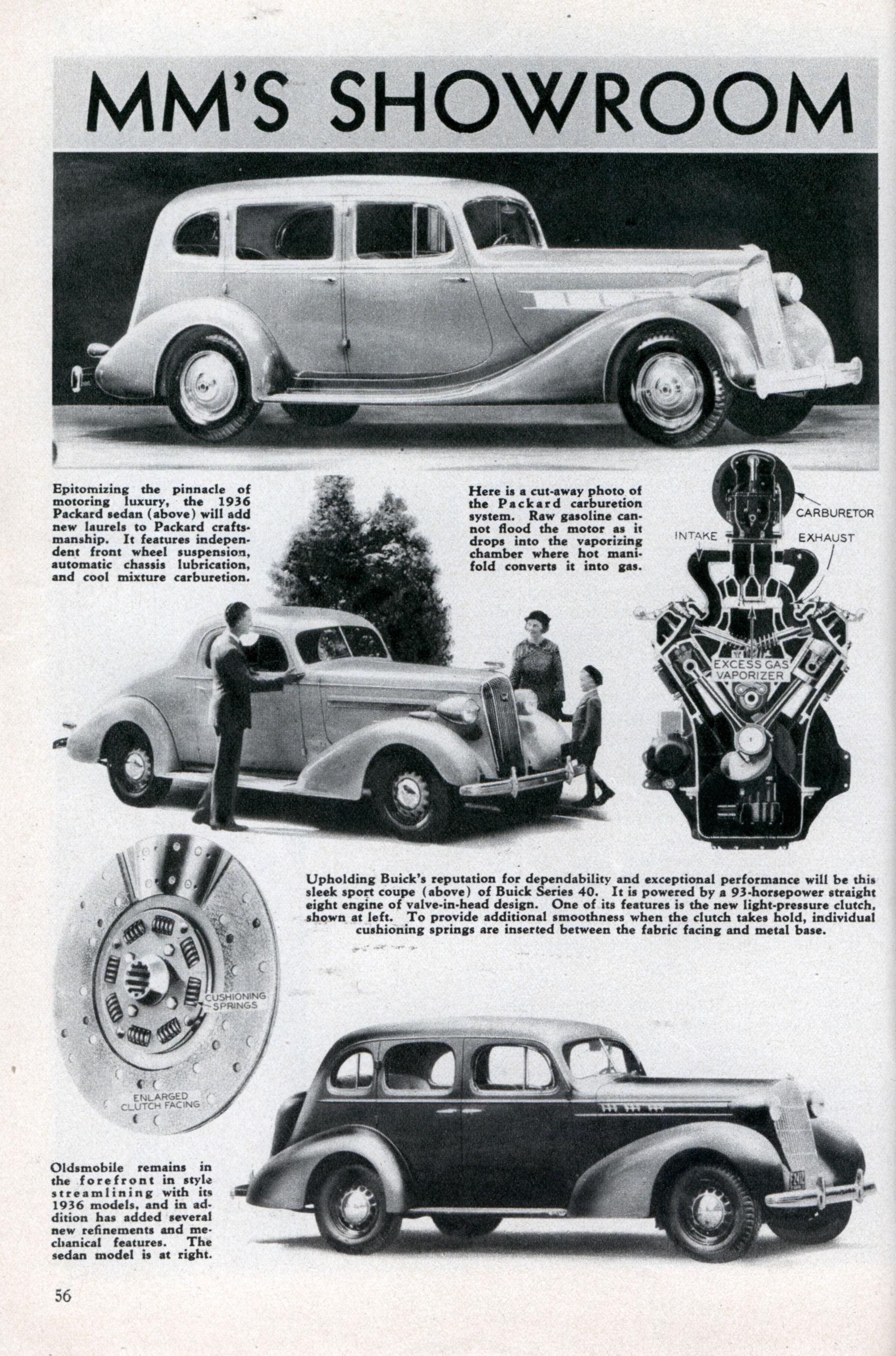 MM\'S SHOWROOM OF 1936 AUTOMOBILES | Modern Mechanix