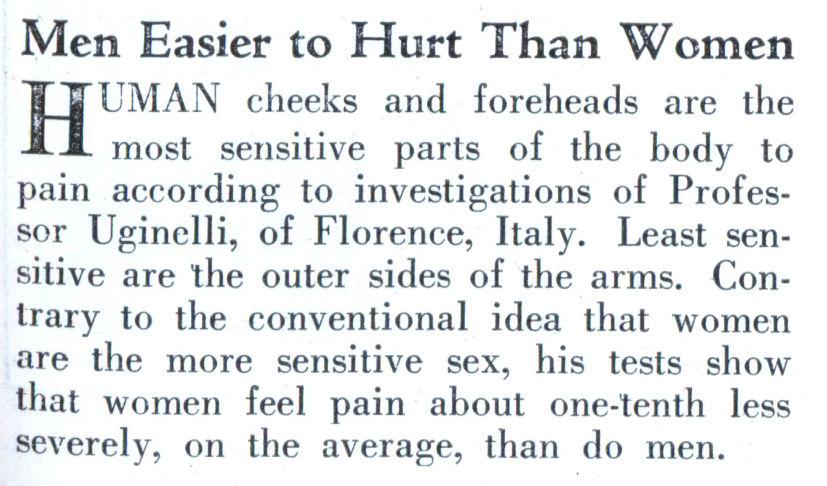 The most sensitive man