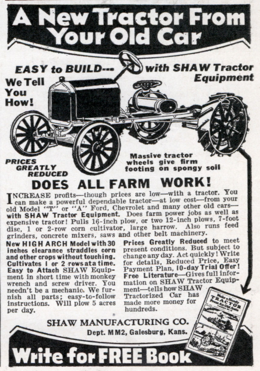 A New Tractor From Your Old Car | Modern Mechanix