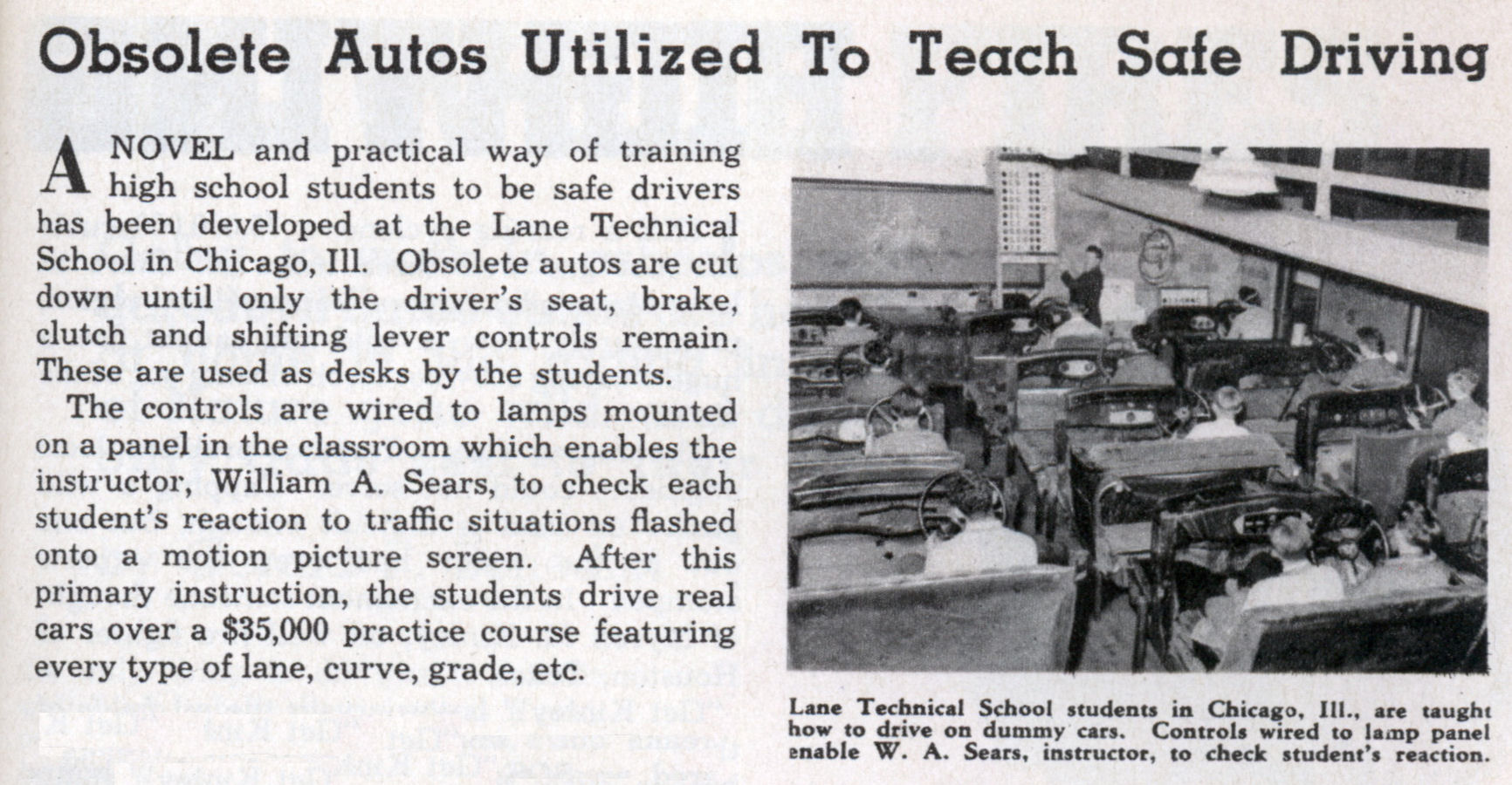 Obsolete Autos Utilized To Teach Safe Driving | Modern ...