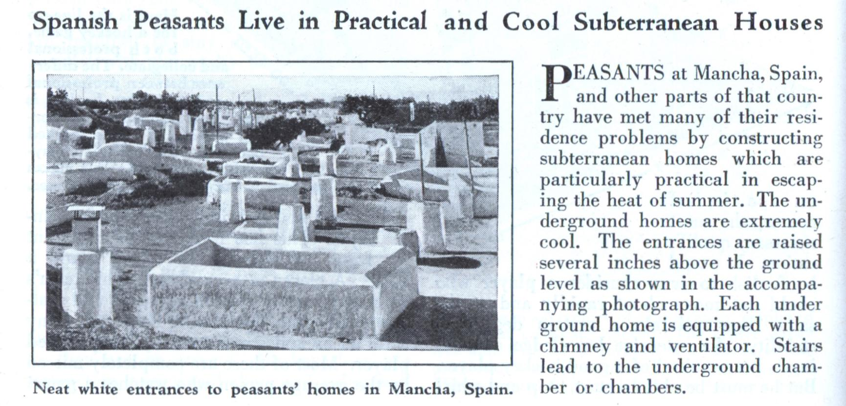 Spanish Peasants Live In Practical And Cool Subterranean Houses