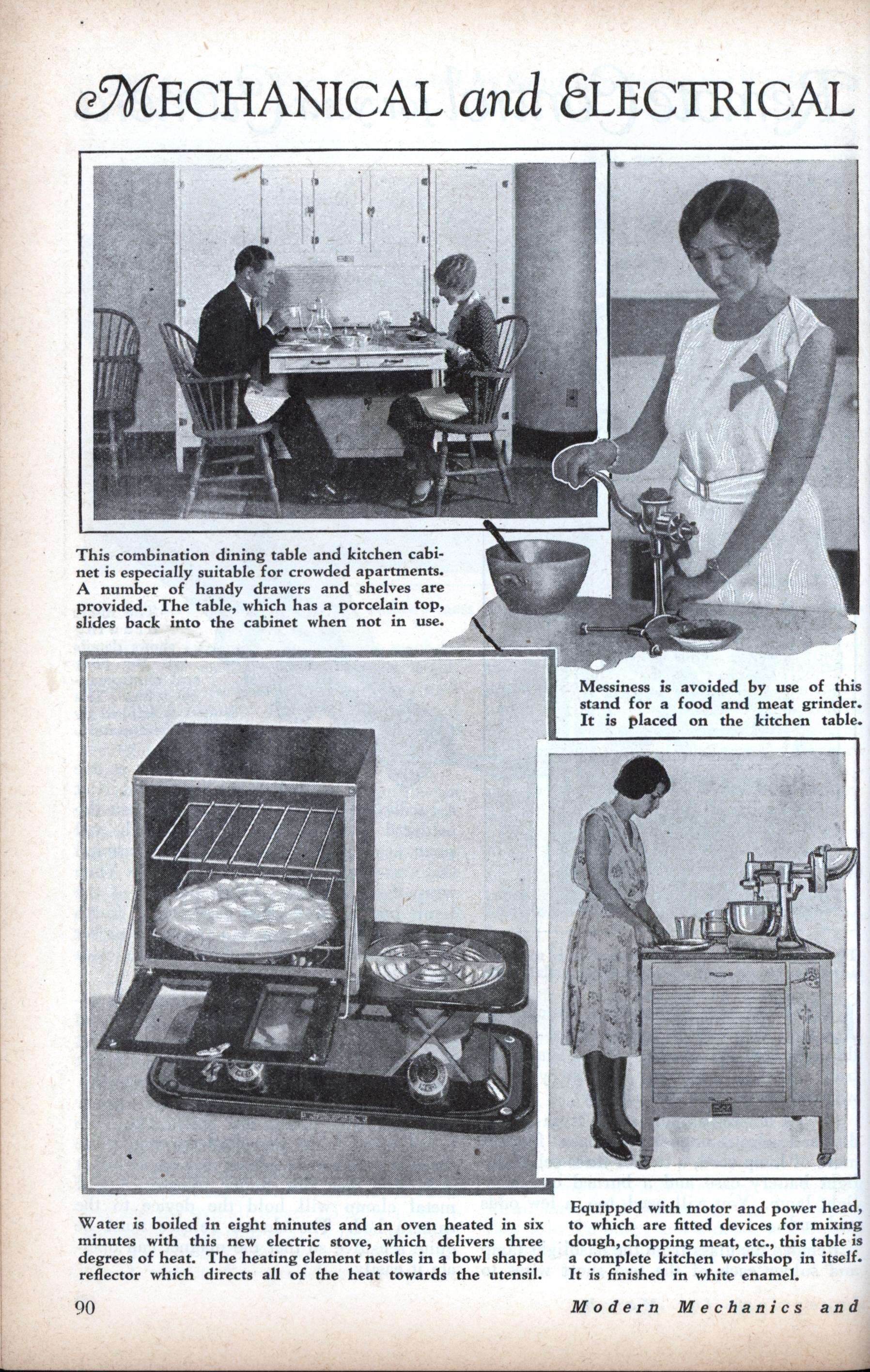 Mechanical and Electrical Devices for the Housewife | Modern Mechanix