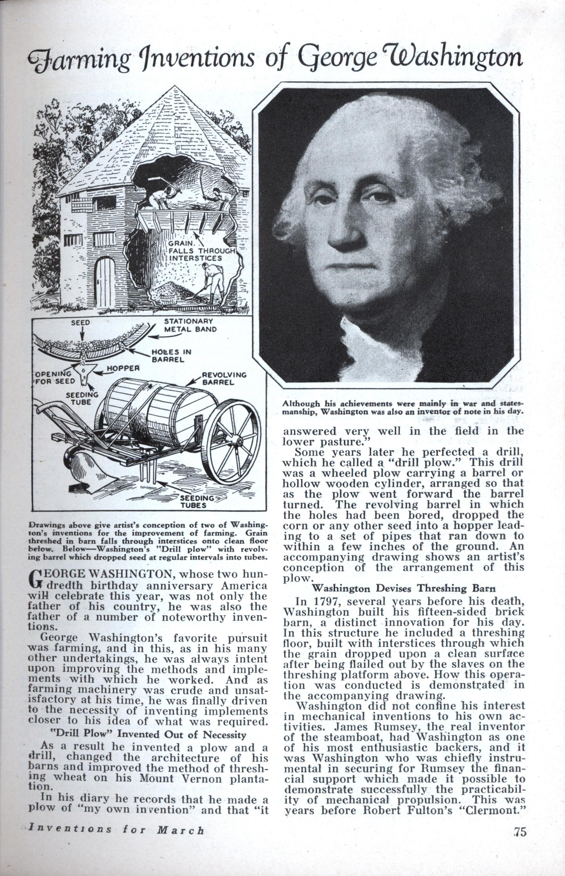 george washington and thomas jefferson contribution George washington was the first president to ever be selected unanimously, basically drafted by the electoral college 1789 he took oath of office on the 30th of april 1789.