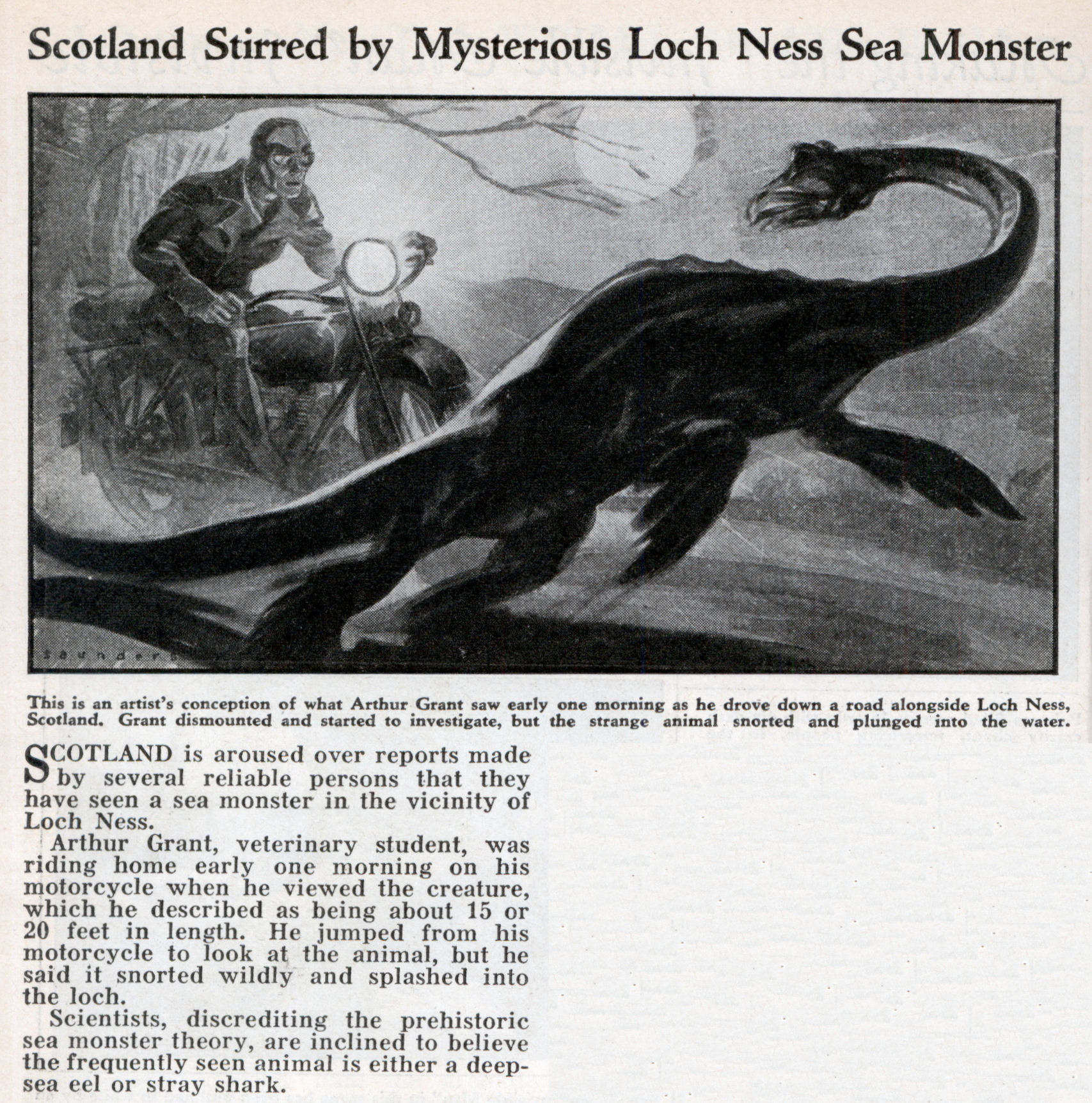 legend from any loch ness monster