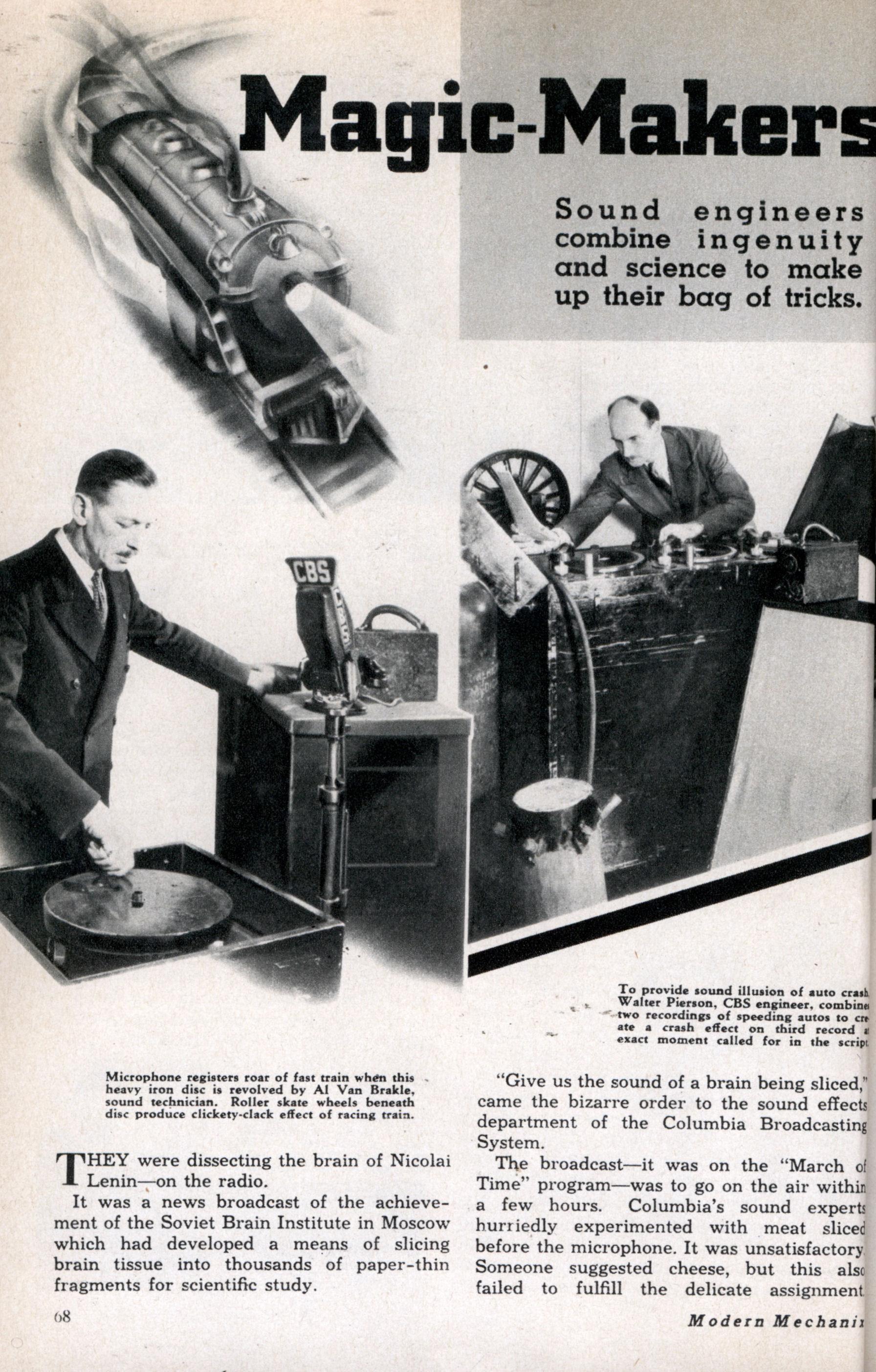 Magic-Makers of the Radio Stations | Modern Mechanix