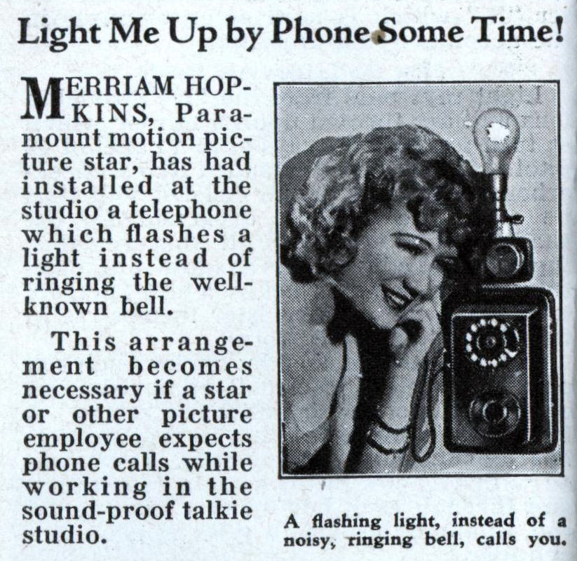 Light Me Up By Phone Some Time! (May, 1932)
