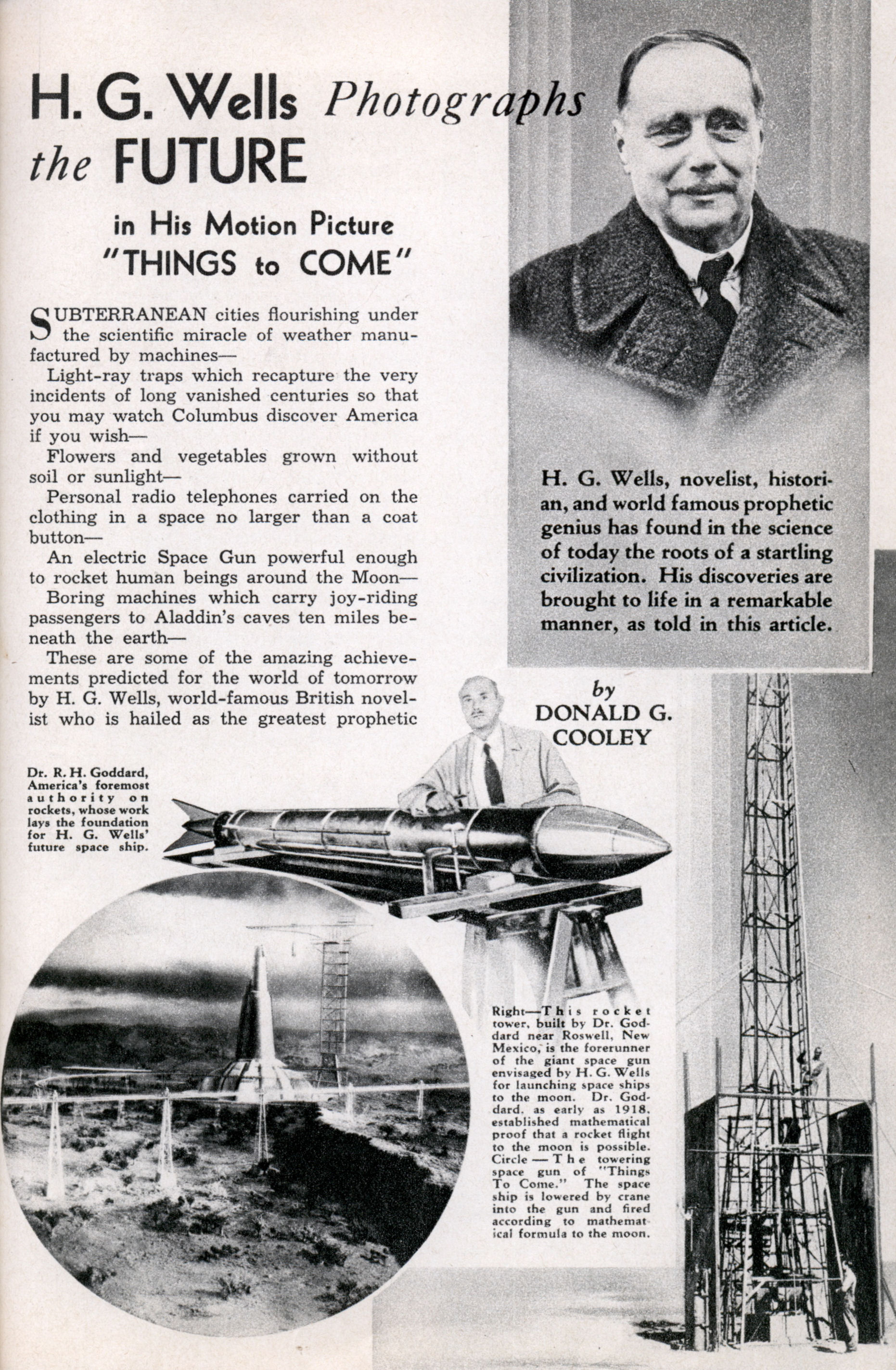 an overview of h g wells novel the shape of things to come Timeline 1930-1940:  the man who awoke 1933 h g wells: the shape of things to come 1934 edwin balmer & philip wylie:  from the h g wells novel,.