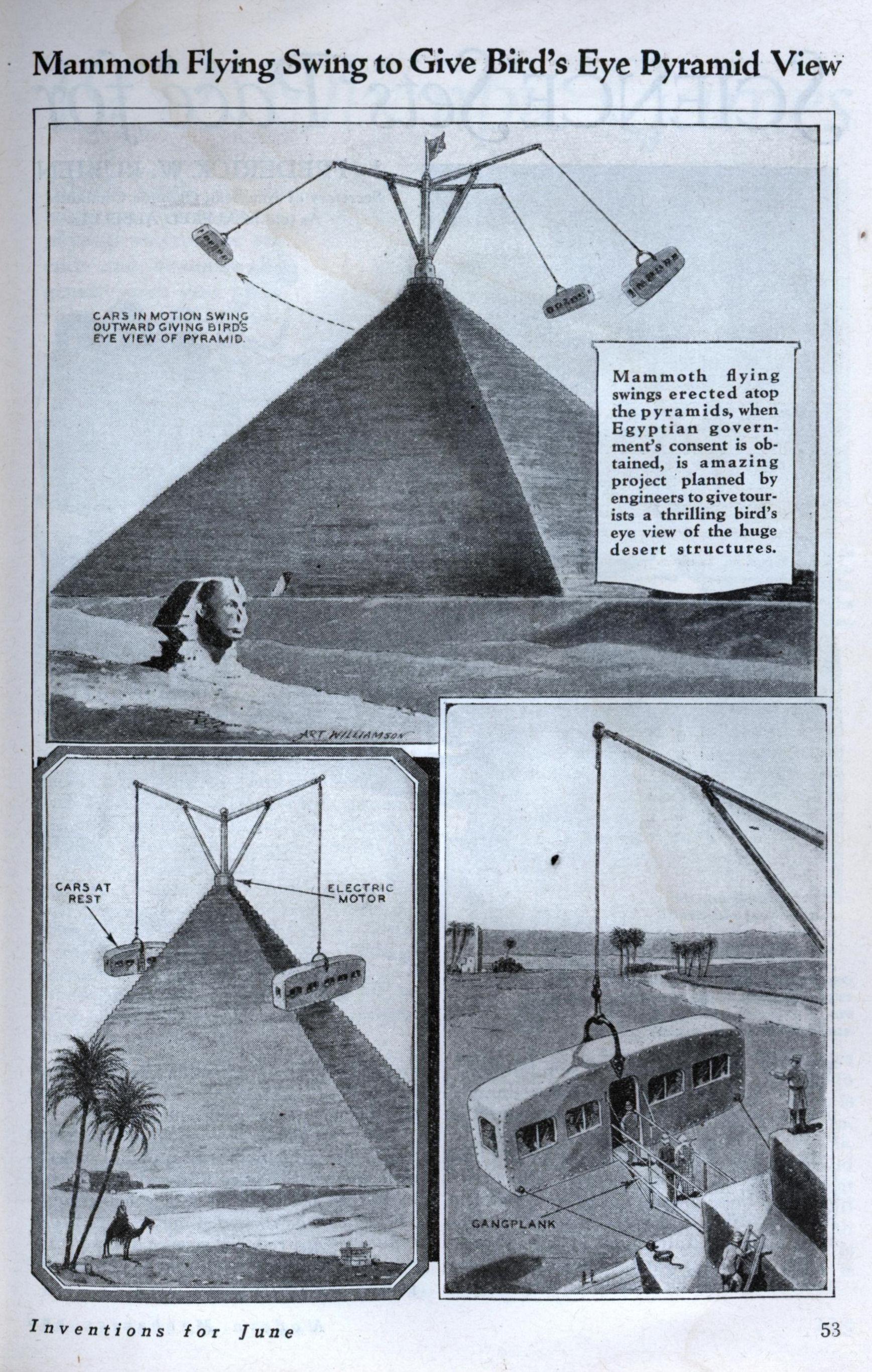 Карусель на пирамиде Хеопса