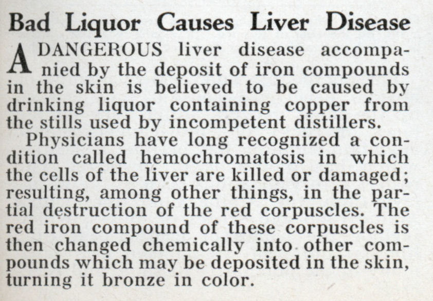 Bad Liquor Causes Liver Disease | Modern Mechanixbad liquor