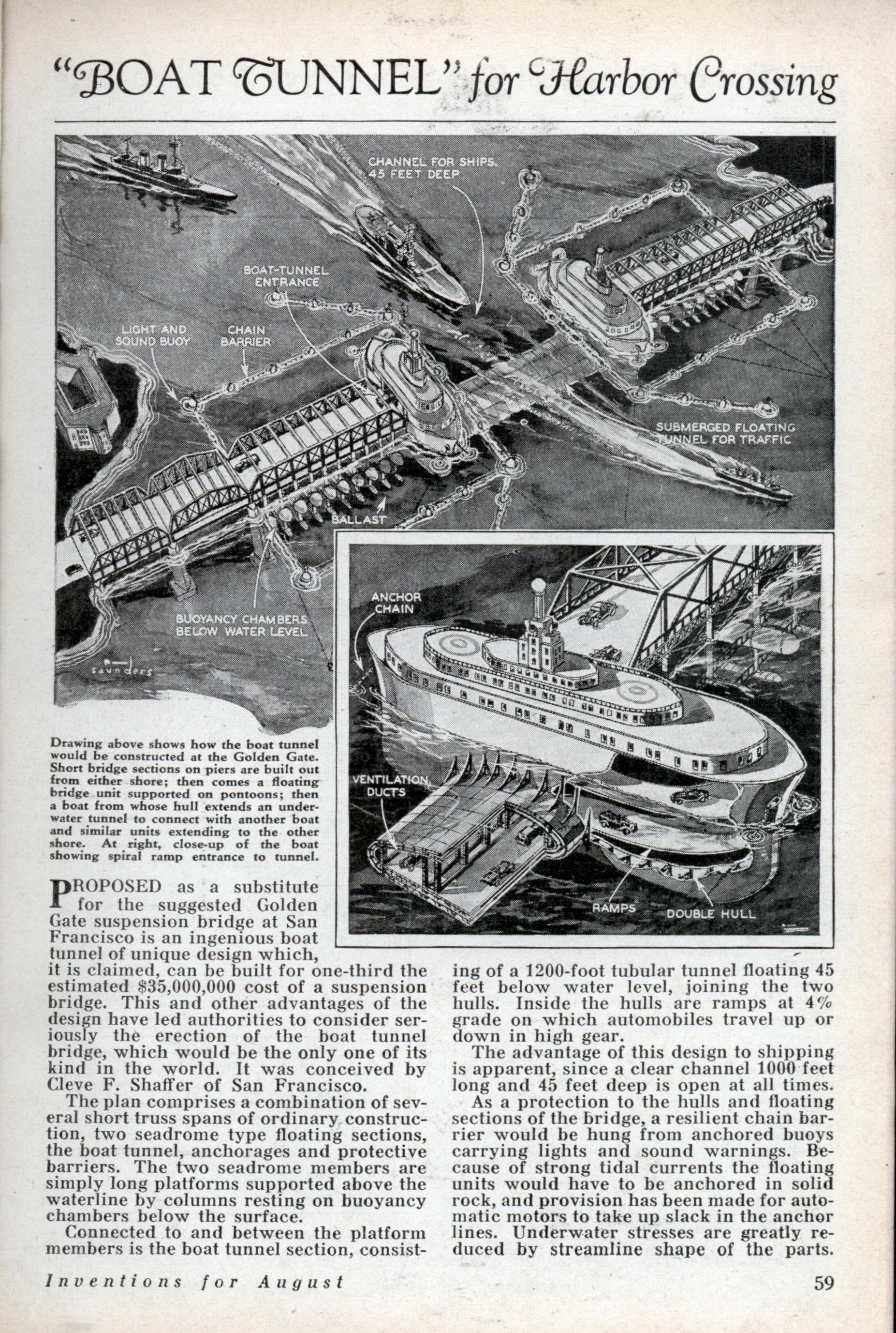 Tunnel Boat Plans http://blog.modernmechanix.com/boat-tunnel-for ...