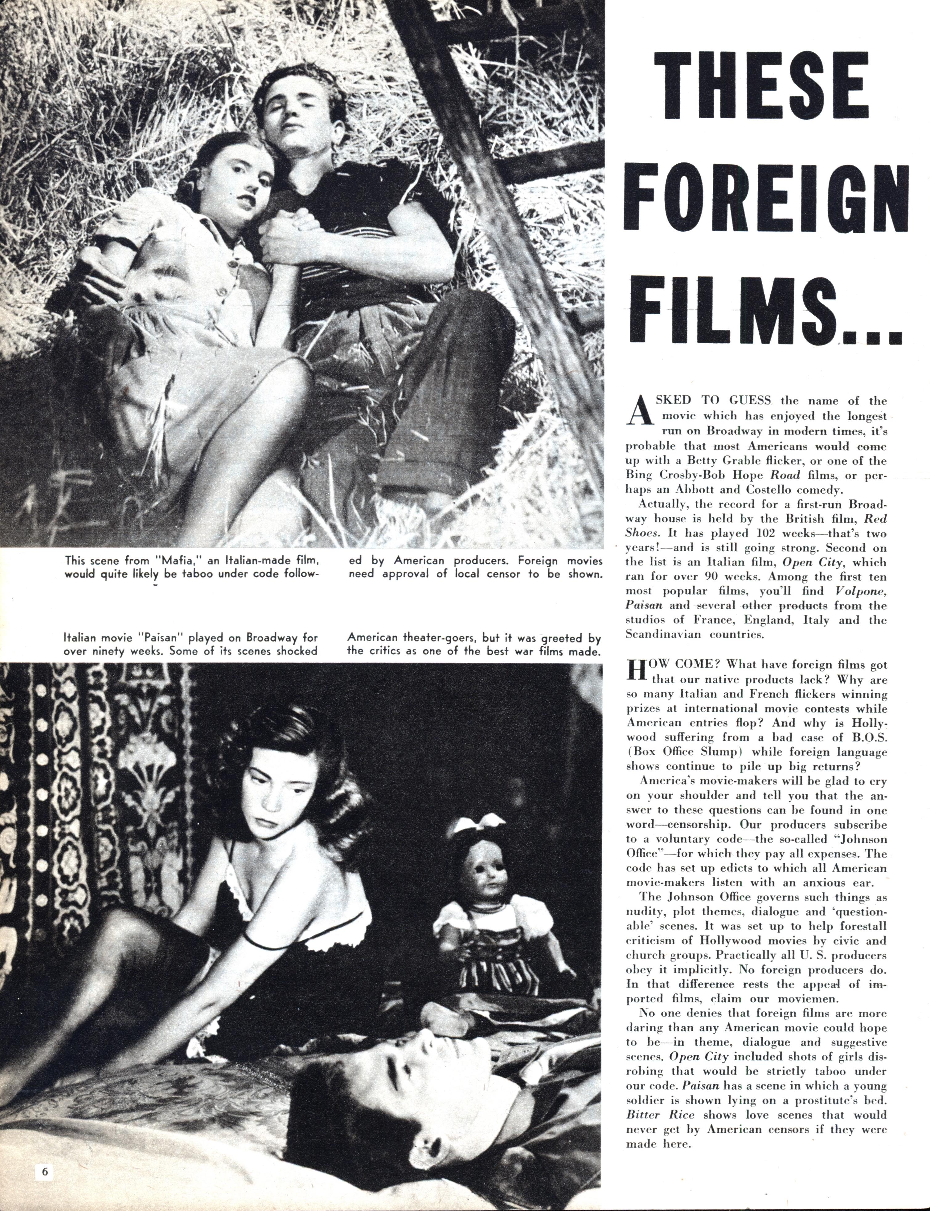 American Taboo Movie these foreign films… | modern mechanix