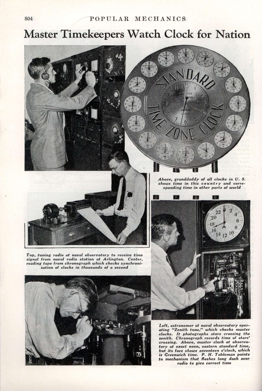 Master Timekeepers Watch Clock for Nation | Modern Mechanix