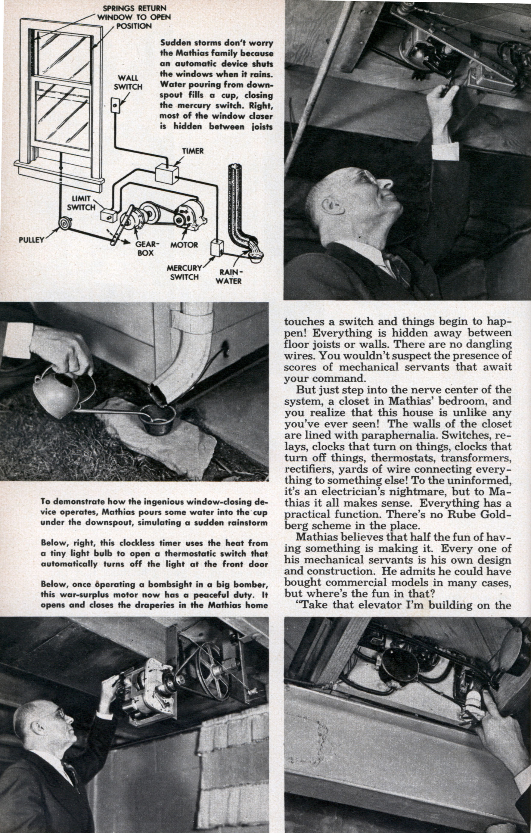 Push Button Manor Modern Mechanix Page 2 More Doorbell Circuits Pushbutton Switches Hobby Category Dec 1950