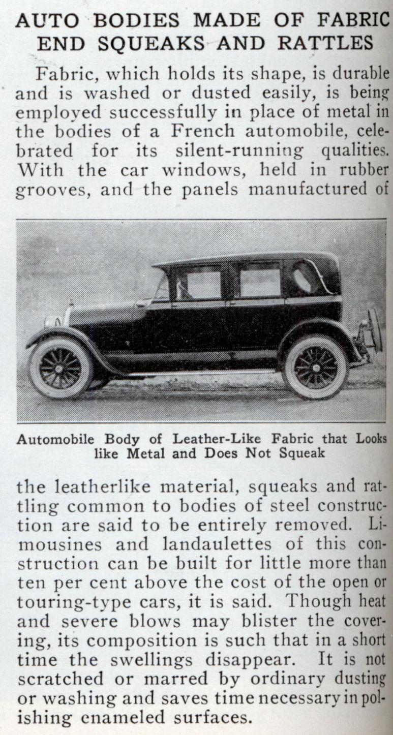 Weymann type fabric bodies