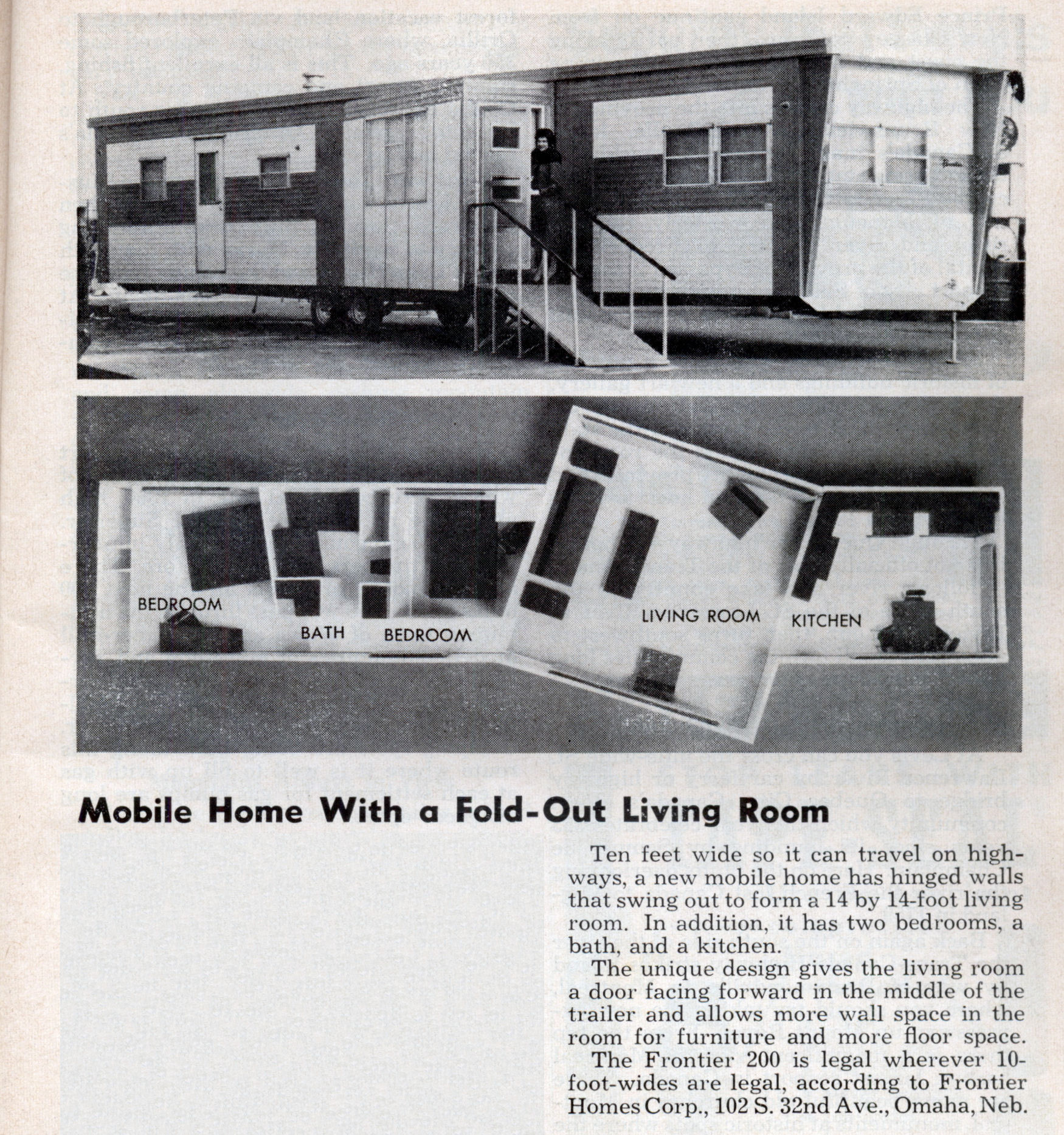 Mobile Home Living Room Mobile Home With A Fold Out Living Room Modern Mechanix
