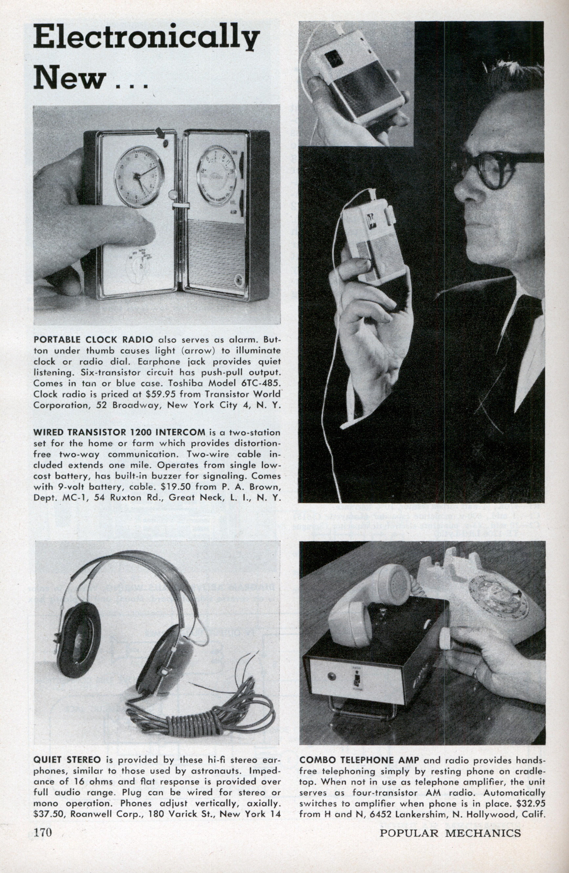 Electronically New Modern Mechanix Low Cost Am Radio