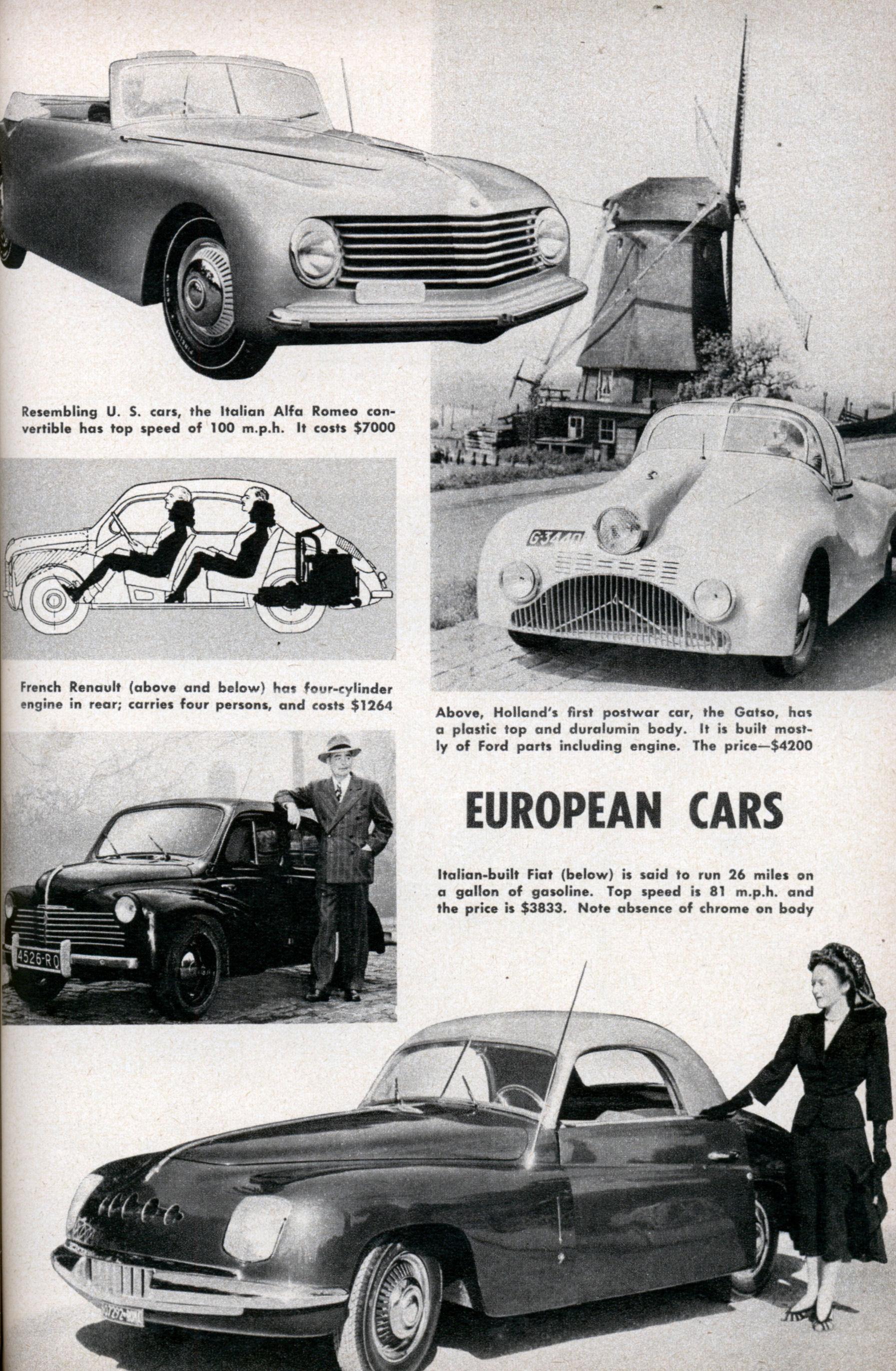 Resembling U. S. cars, the