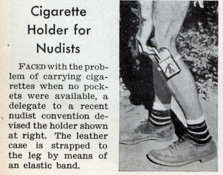 Cigarette Holder for Nudists (Jan, 1938)
