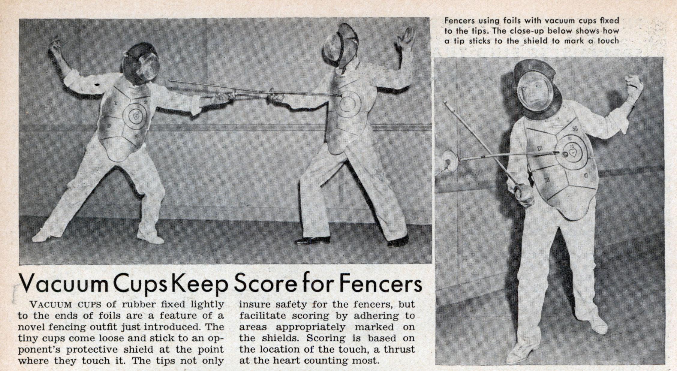 Vacuum Cups Keep Score for Fencers | Modern Mechanix