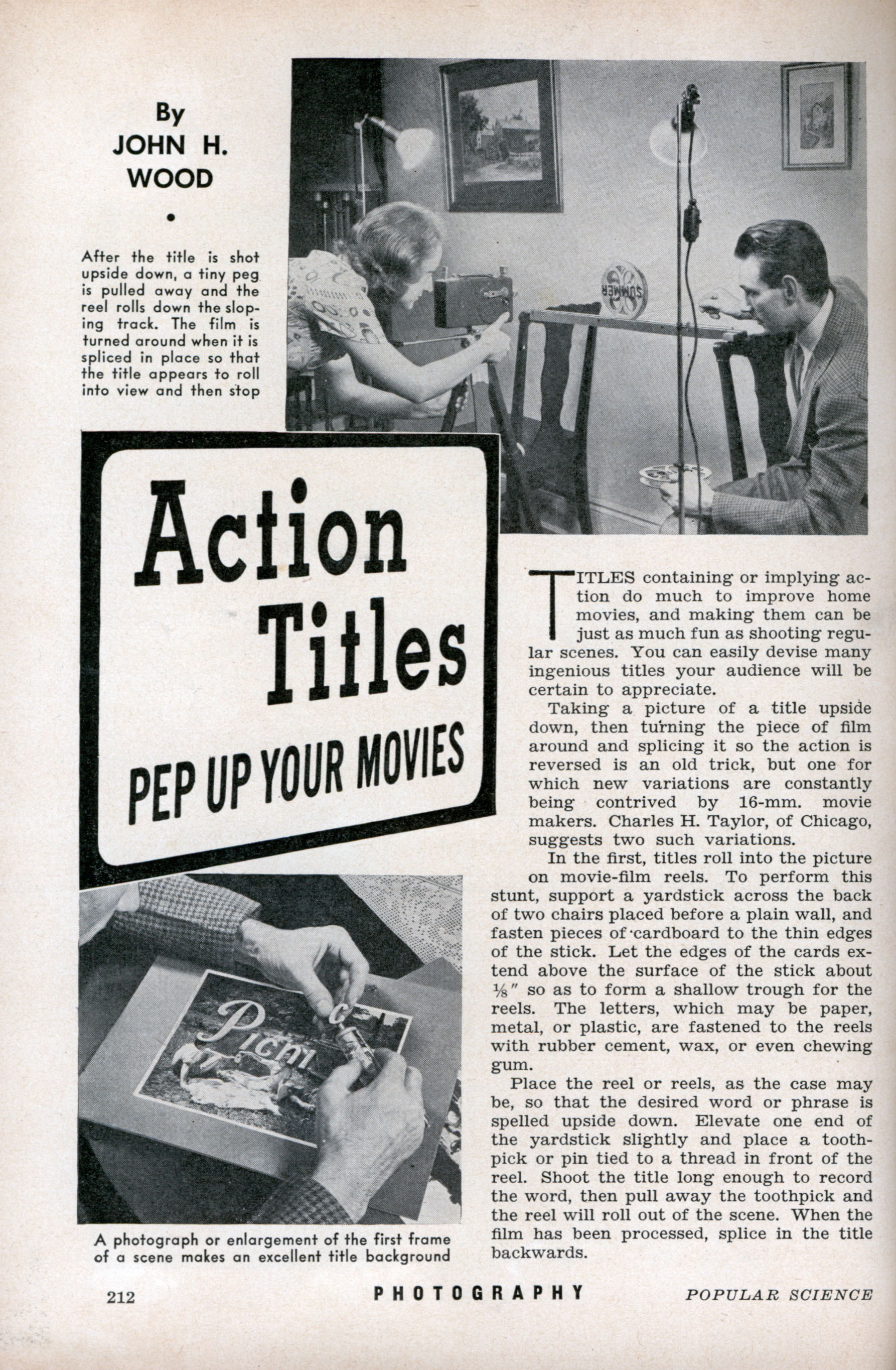 How to frame movie title in an essay