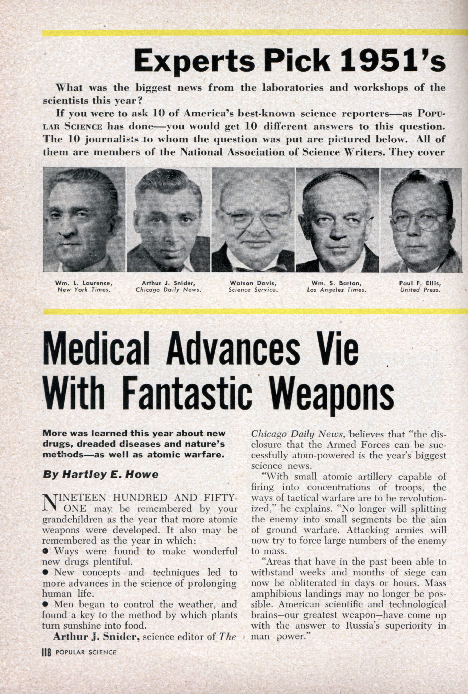 Experts Pick 1951's Biggest Science News | Modern Mechanix