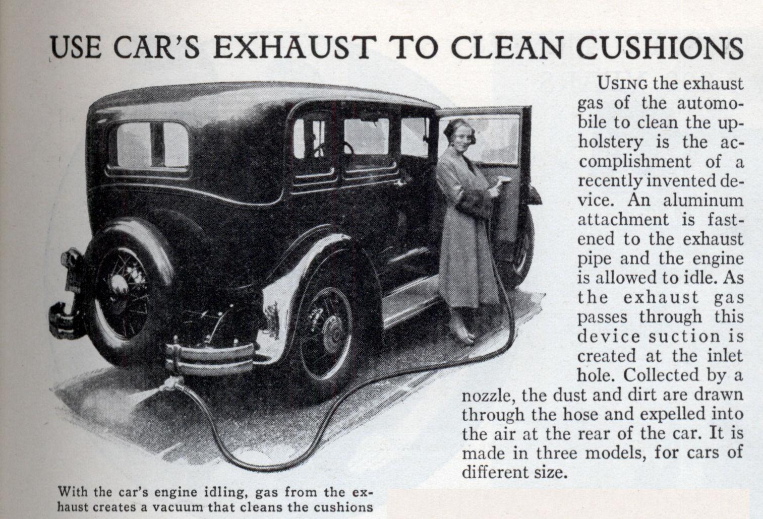 USE CAR\'S EXHAUST TO CLEAN CUSHIONS | Modern Mechanix