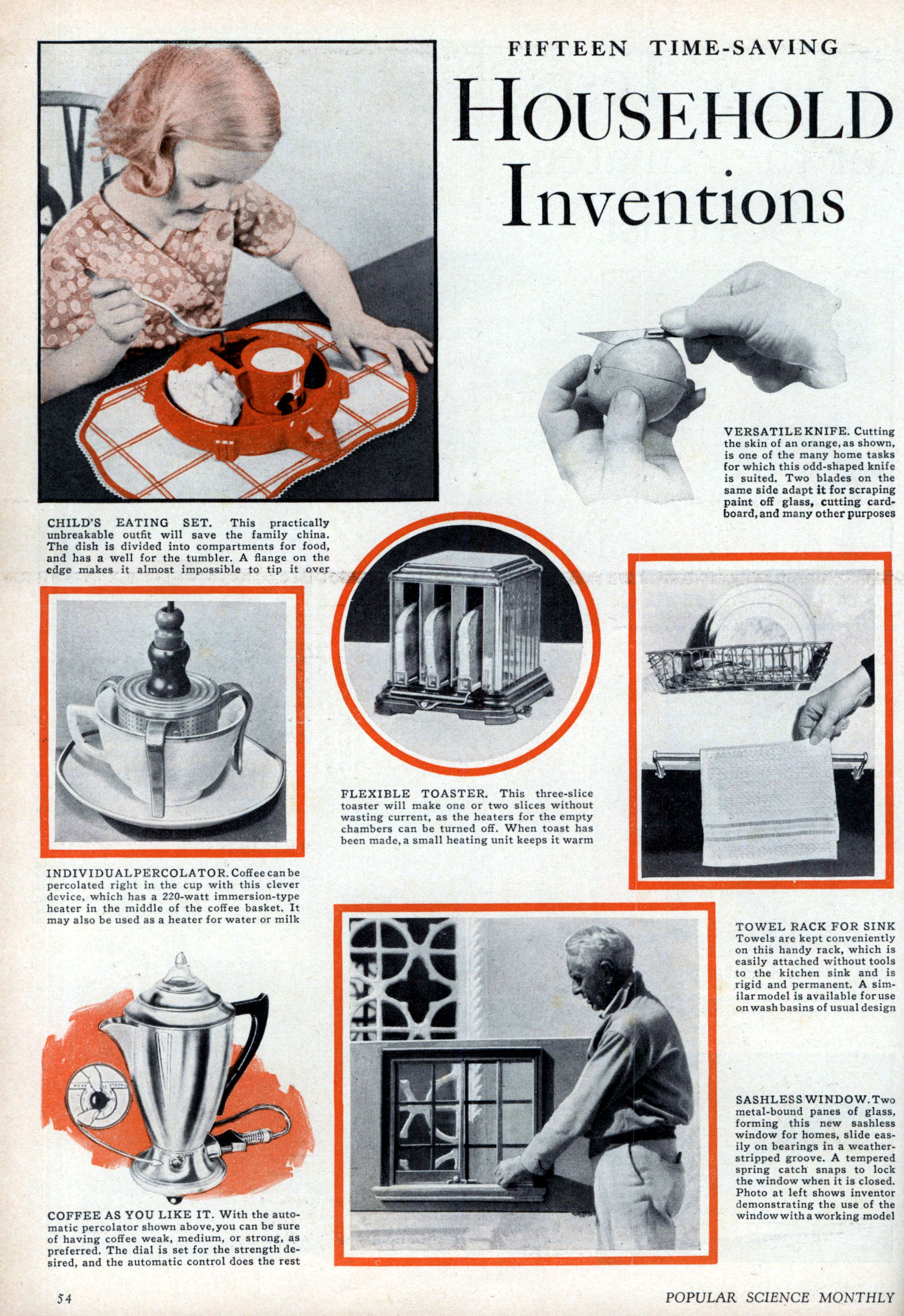 Fifteen Time Saving Household Inventions Modern Mechanix